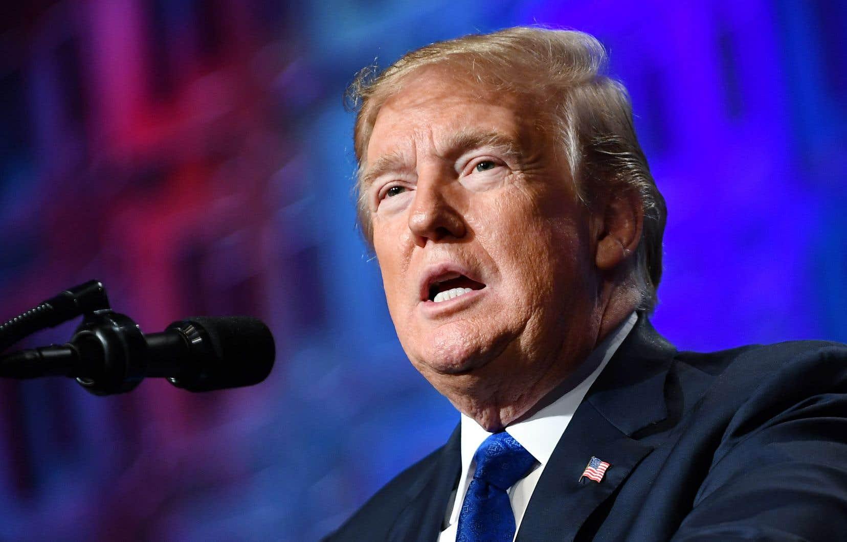 Le président américain, Donald Trump, estime que la présomption d'innocence est trop souvent piétinée.