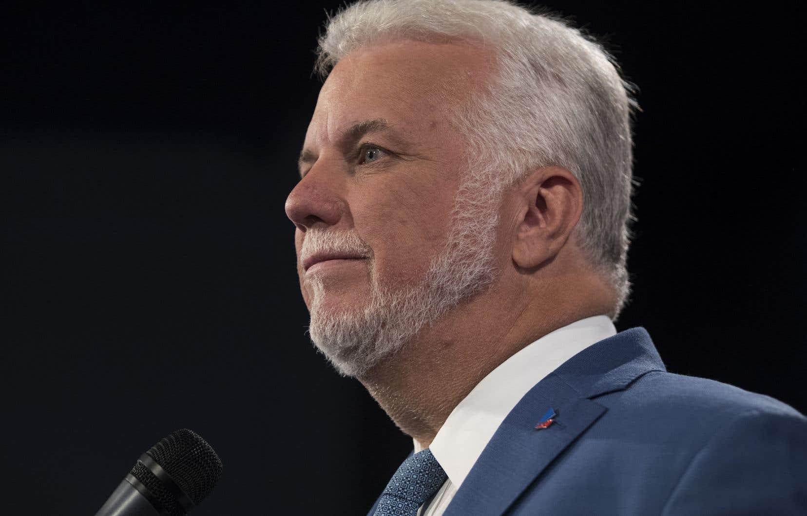 Le chef du Parti libéral du Québec, Philippe Couillard