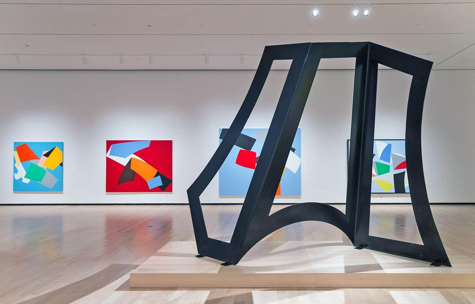 Le coeur de cette exposition en mouvements tourne autour des années phares de Barbeau, celles portées par les tableaux optiques des années 1960.