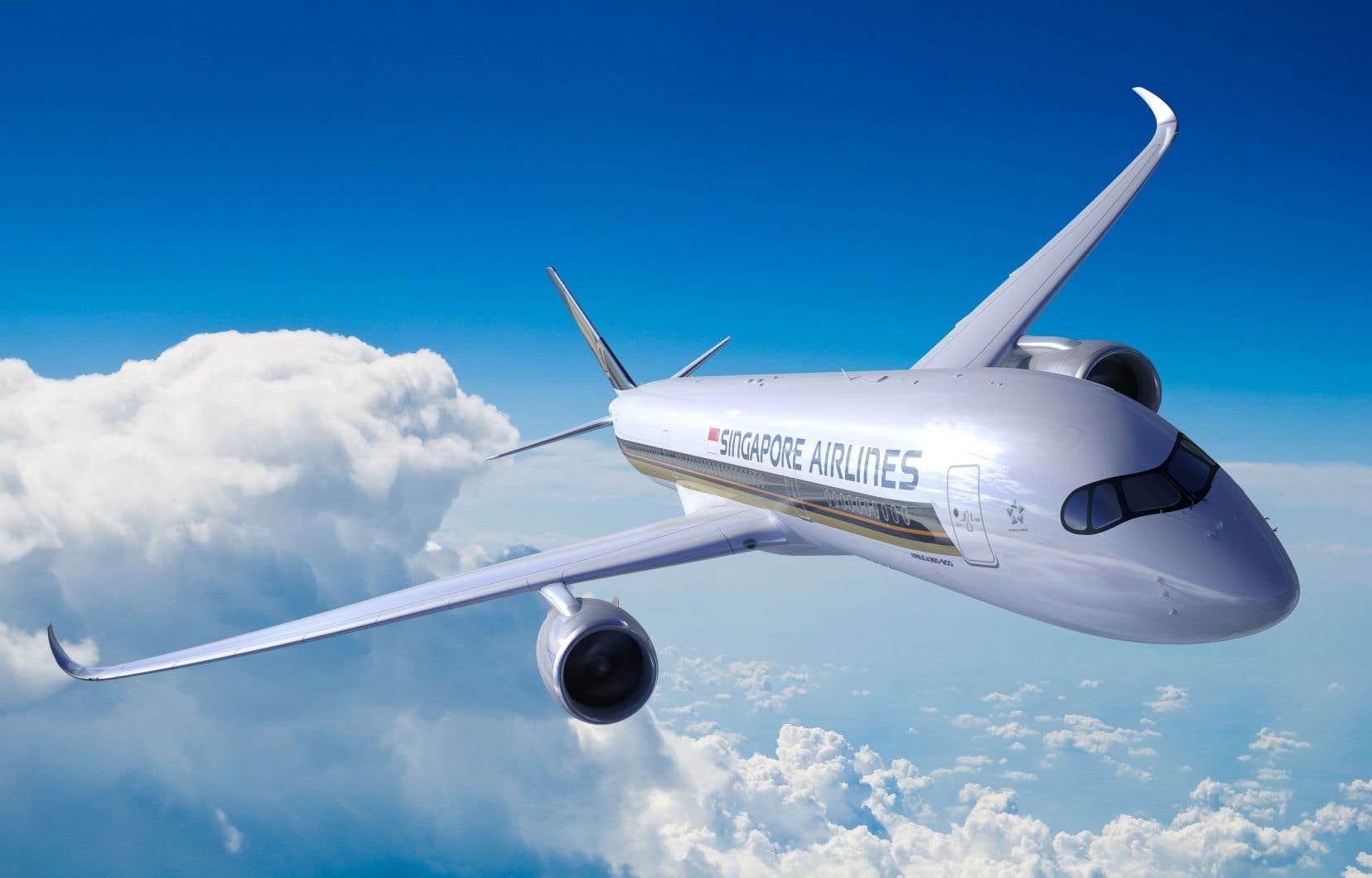 <p>L'Airbus A350-900 ULR parcourra les 16700 km séparant Singapourde New York.</p>
