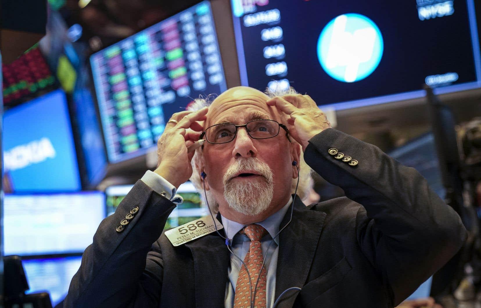 Le Dow Jones a cédé, jeudi, 2,1%, à 25 052,83 points, au plus bas depuis le 23 juillet.