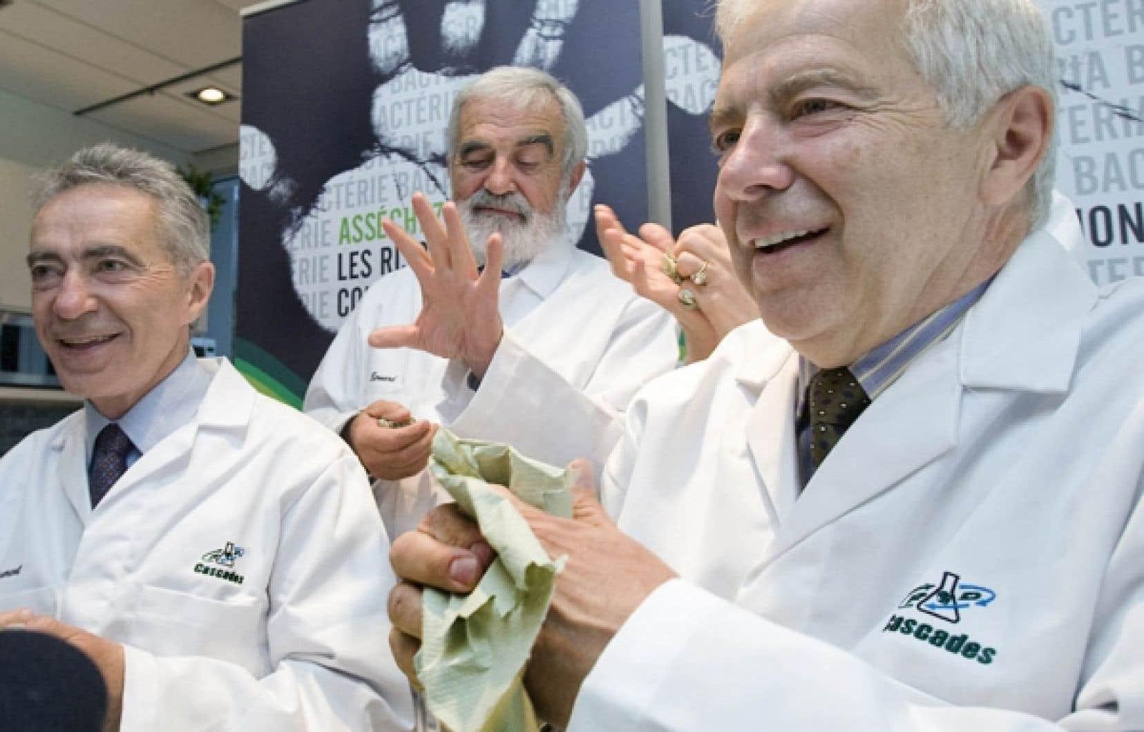 Les trois principaux dirigeants de Cascades, Laurent, Bernard et Alain Lemaire