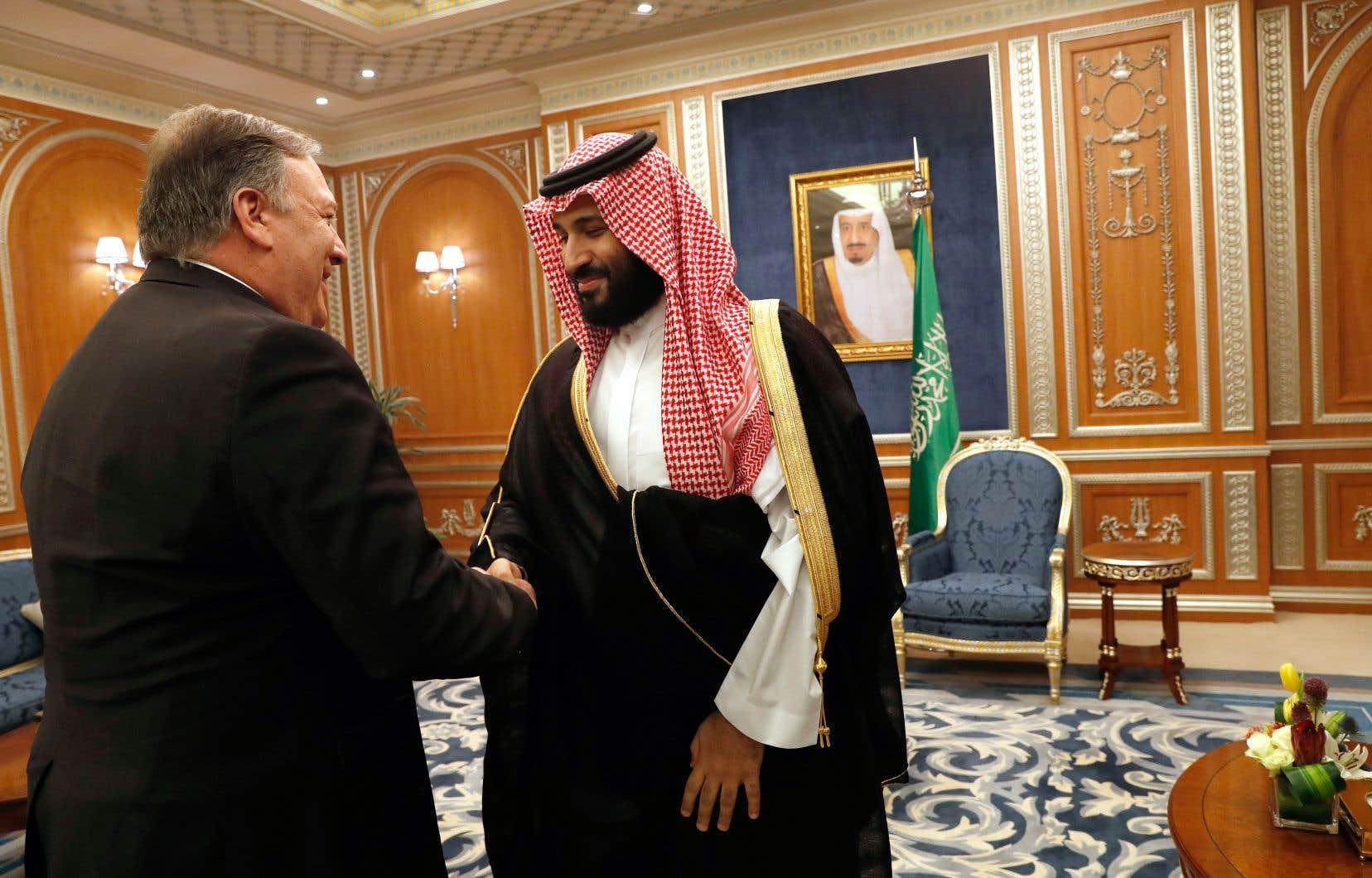 Le secrétaire d'État américain, Mike Pompeo, a rencontré Mohammed ben Salmane à Riyad, mardi.