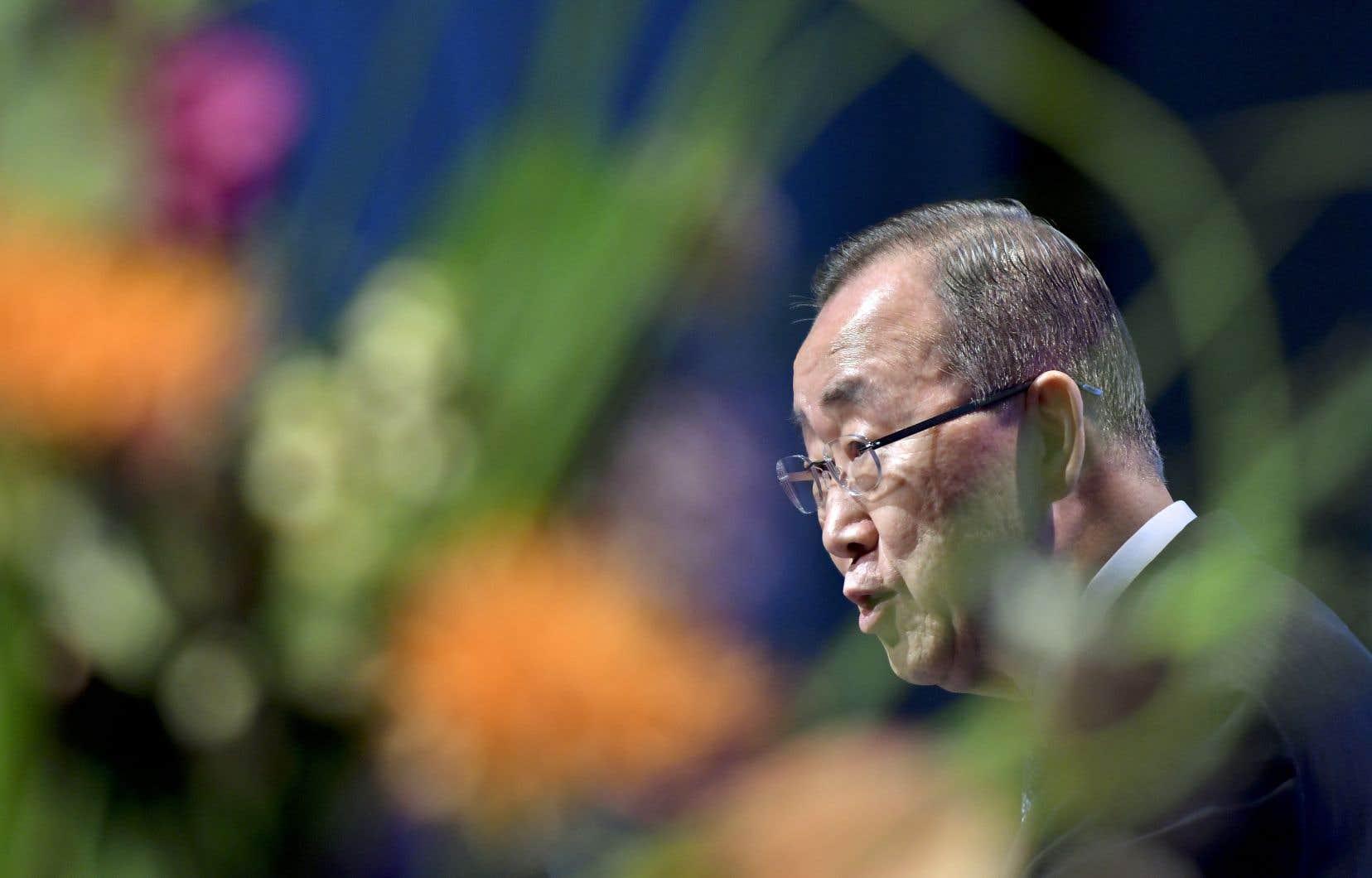 Le monde a atteint un «point de non-retour» en matière de changement climatique, a averti l'ancien secrétaire général de l'ONU, Ban Ki-moon.