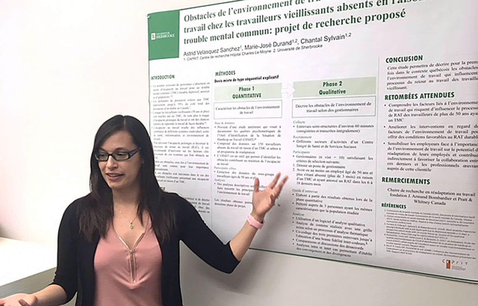 La chercheuse Astrid Velasquez-Sanchez s'intéresse aux aînés atteints de troubles mentaux communs.