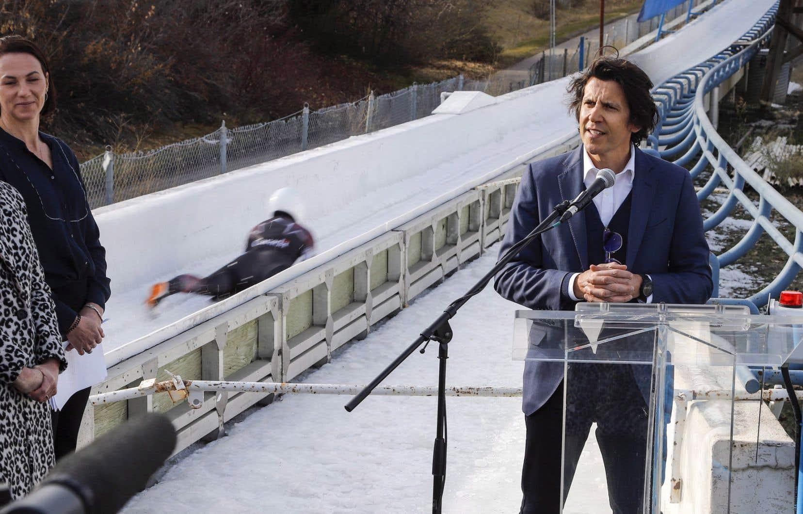Le directeur exécutif du CIO pour les Jeux olympiques,Christophe Dubi, était à Calgary pour rencontrer des leaders économiques, avant le plébiscite du 13novembre.