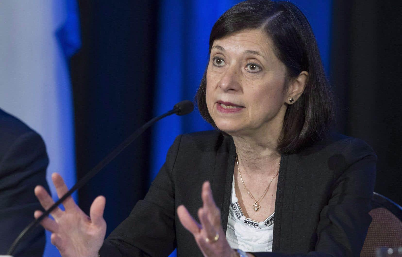 La nouvelle ministre de la Santé, Danielle McCann