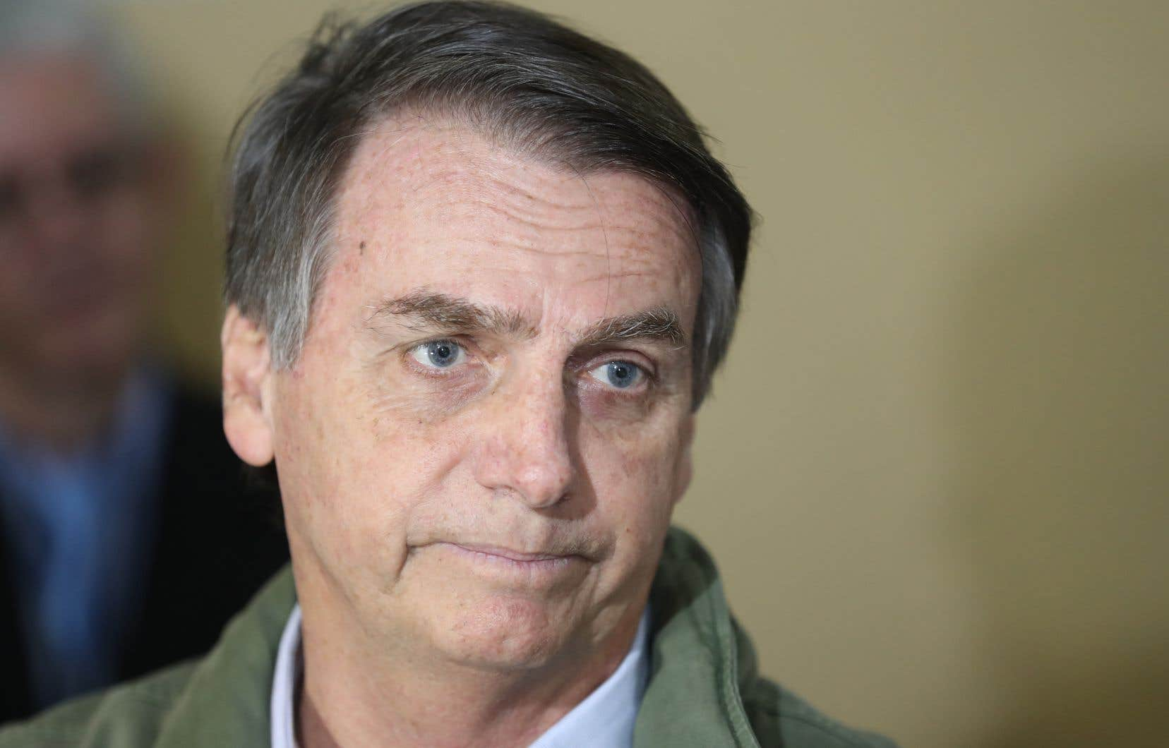Jair Bolsonaro, du Parti social libéral, a multiplié les déclarations intempestives ces dernières semaines.