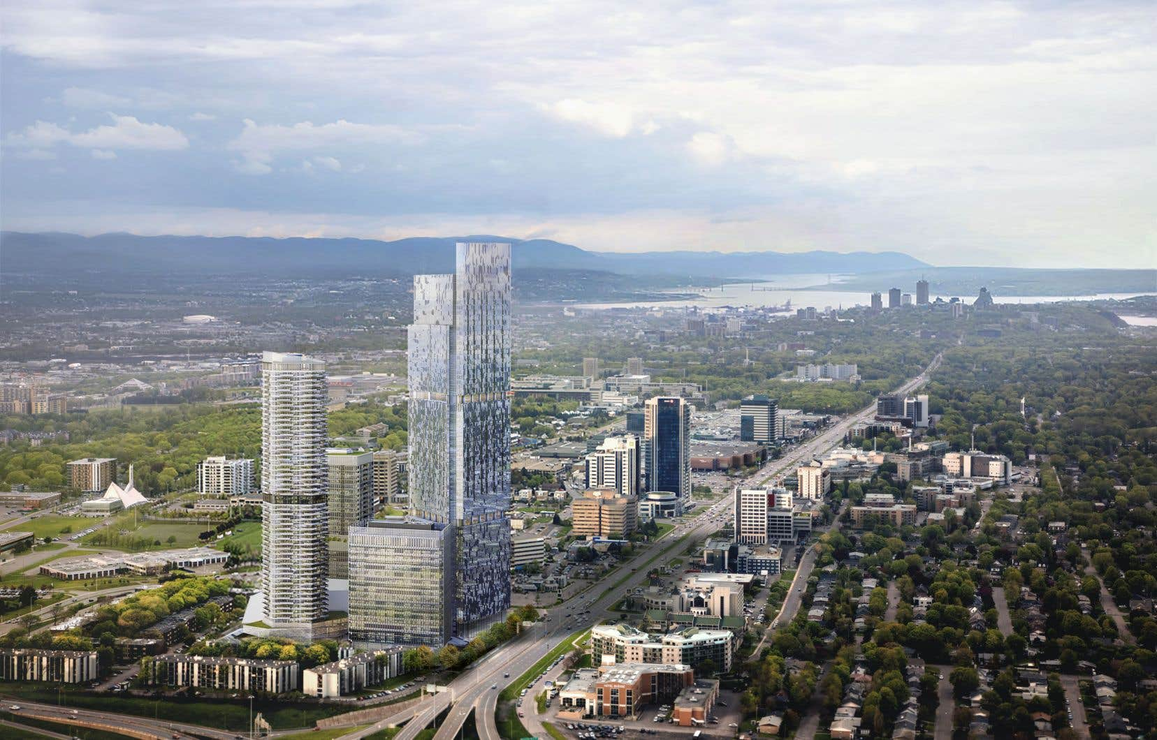 Le projet inclut des appartements, des locaux commerciaux, un observatoire au dernier étage et une salle de spectacle.