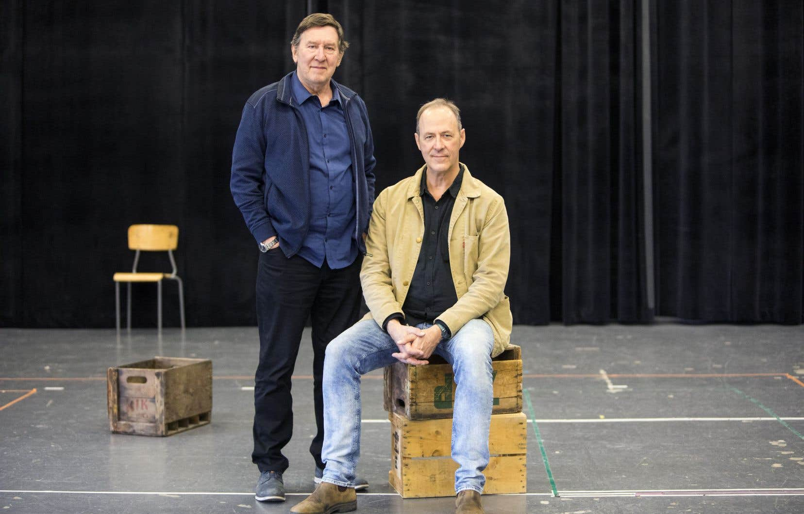 Le comédien Gilles Renaud et le metteur en scène Claude Poissant sont réunis par la pièce «Bonjour, là, bonjour».