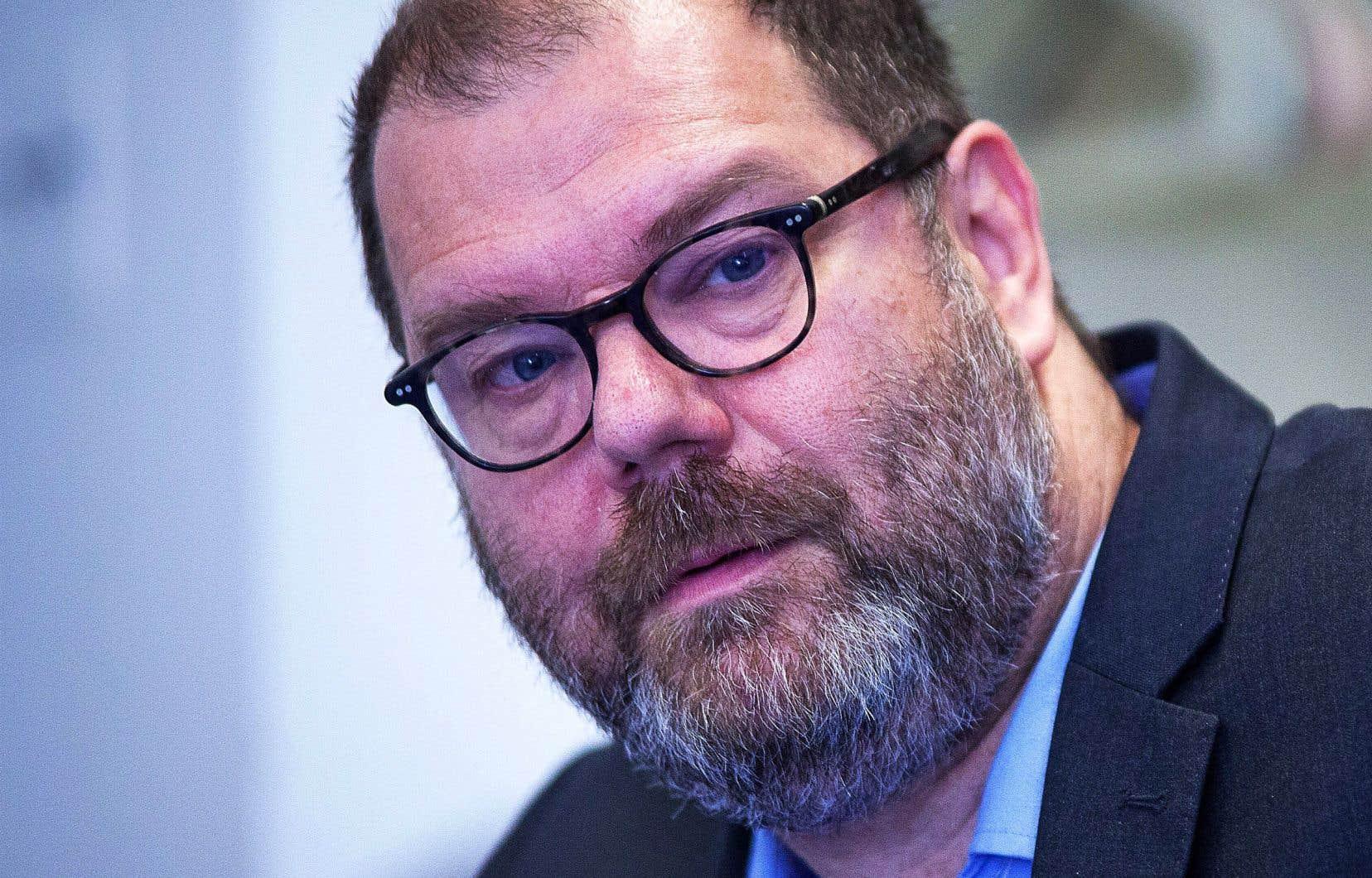 Le chef intérimaire du Bloc québécois, Mario Beaulieu