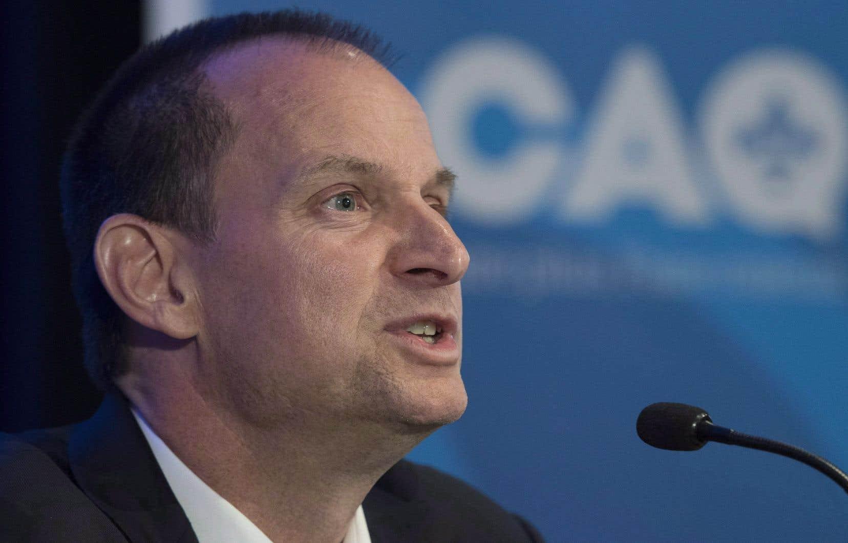 Le nouveau ministre québécois des Finances, Éric Girard
