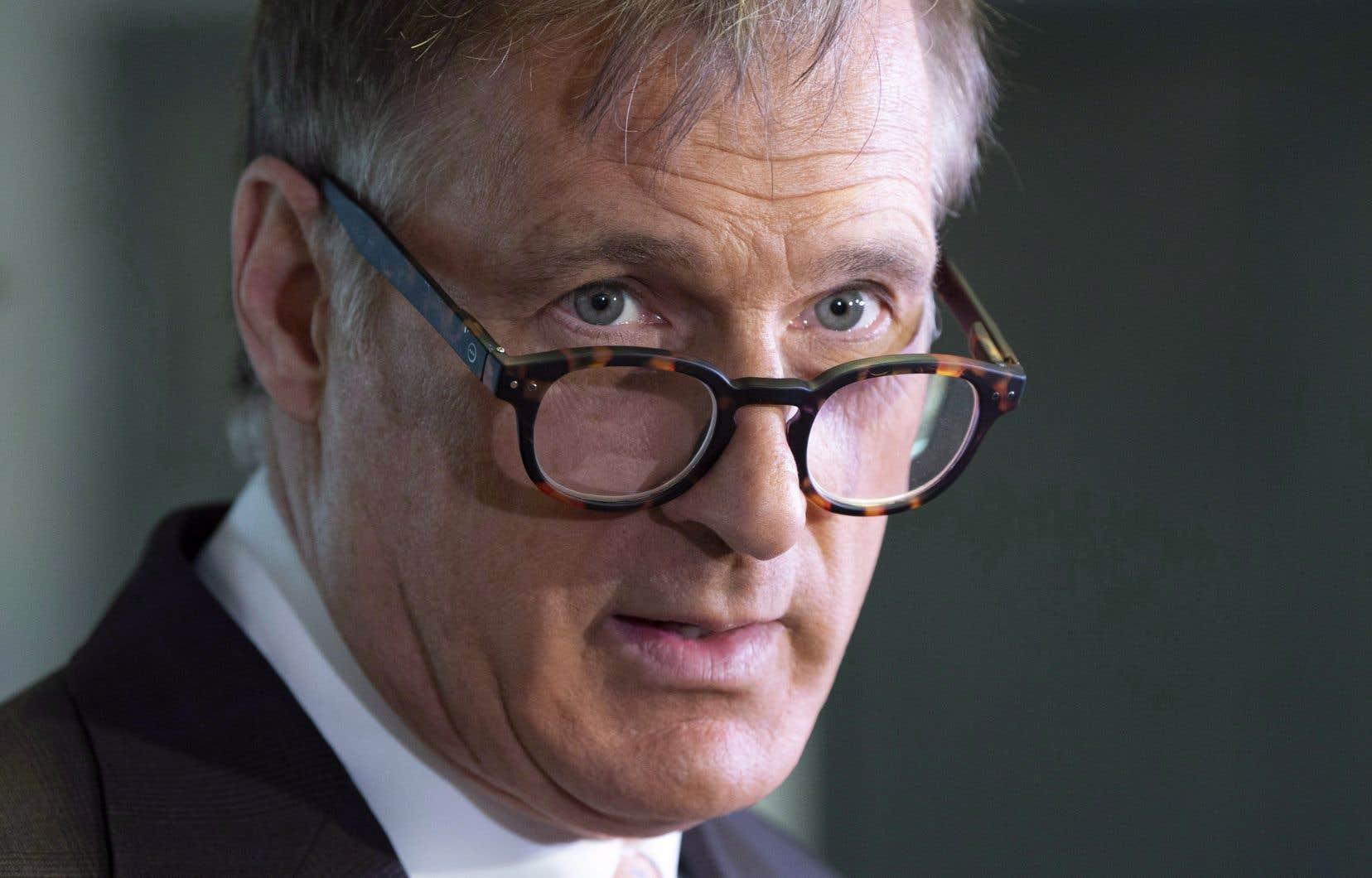 Le chef du nouveau Parti populaire du Canada, Maxime Bernier