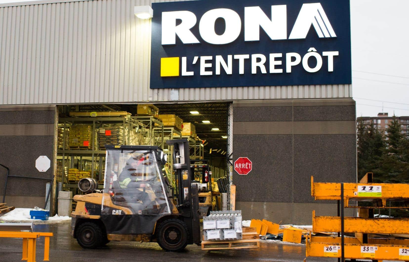 Neuf magasins Rona du Québec sont ciblés.