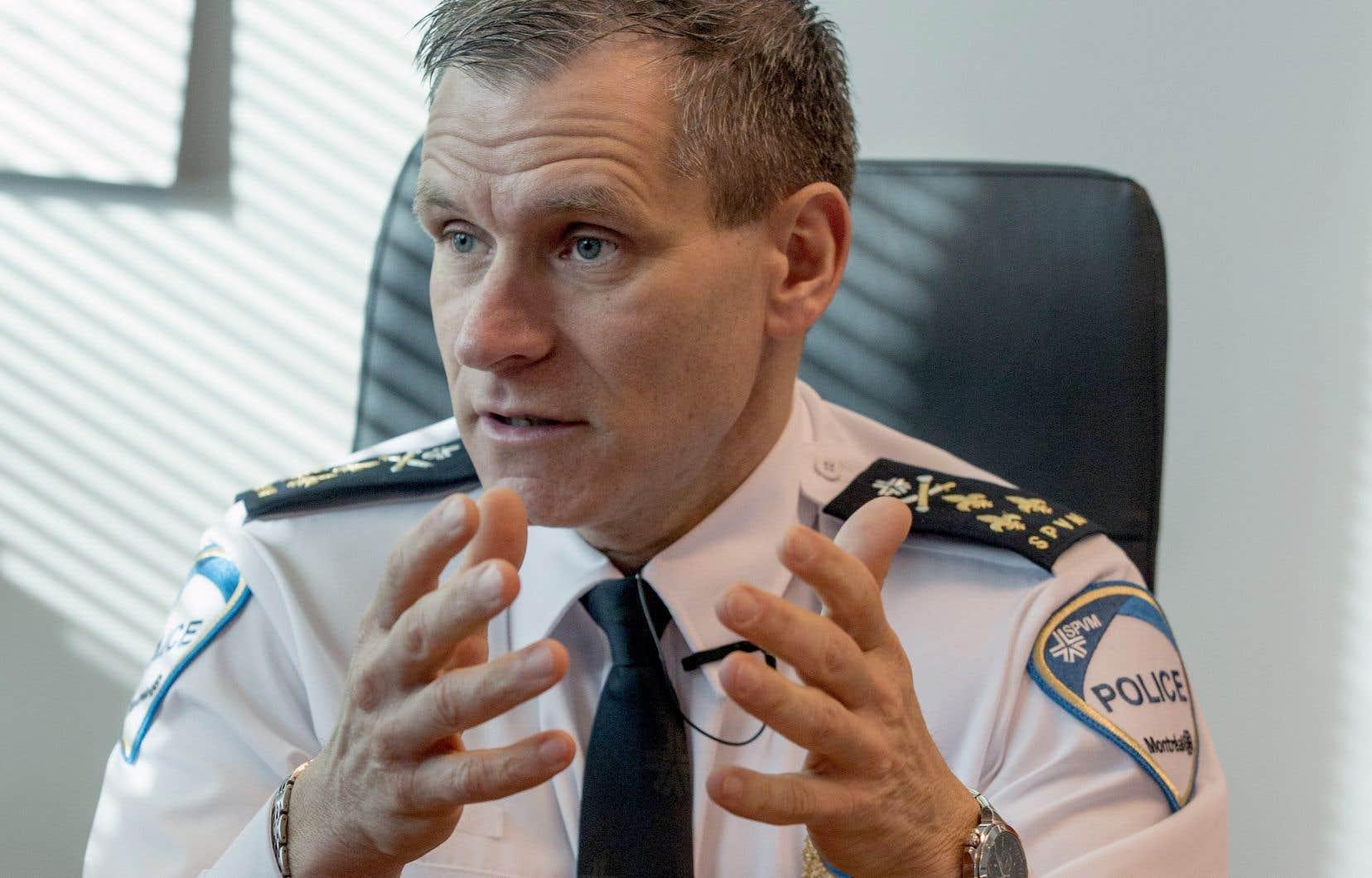 Martin Prud'homme avait été nommé à la tête du SPVMen décembre 2017 après la suspension de Philippe Pichet.