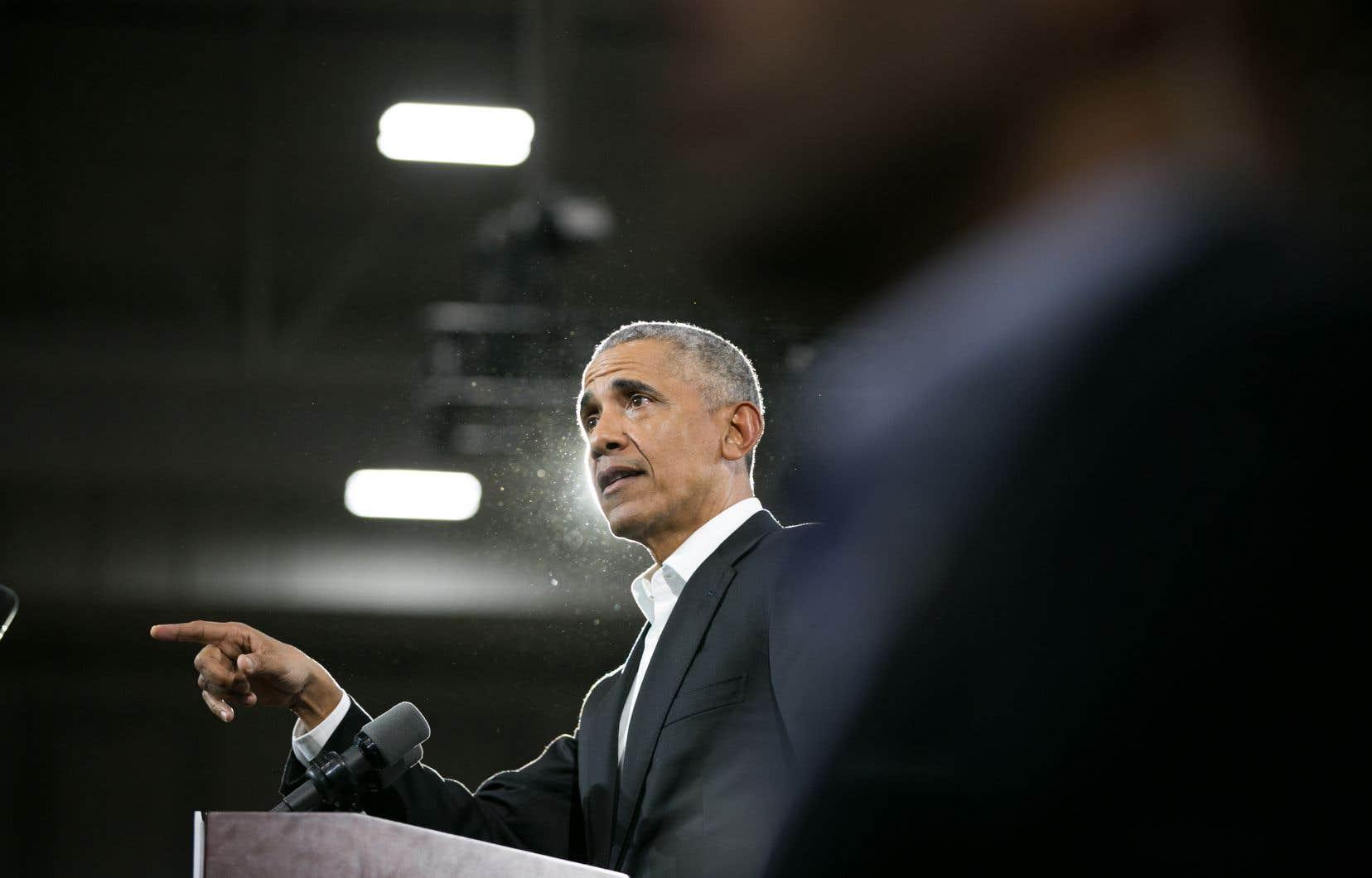 Barack Obama s'est félicité de l'élection d'un «nombre record de femmes et de jeunes vétérans d'Irak et d'Afghanistan», de «jeunes chefs exceptionnels» et d'«une vague de candidats issus de minorités».