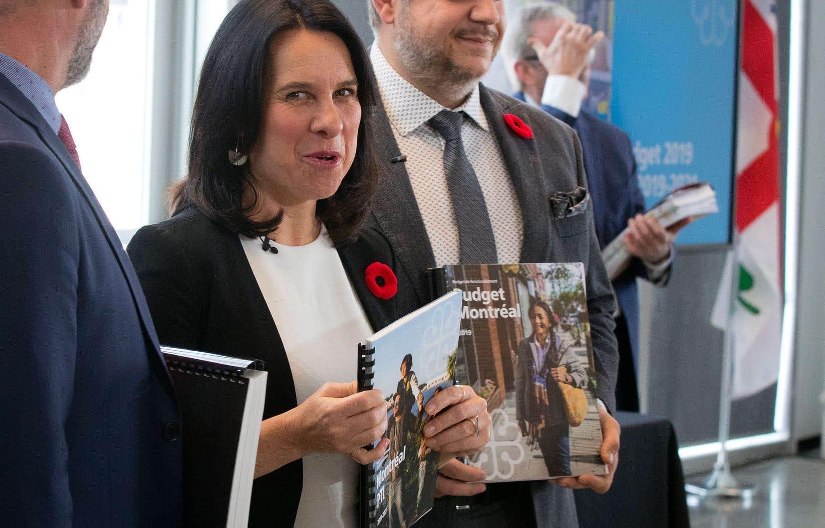 La mairesse Valérie Plante a déposé un budget de 5,7milliards, soit une hausse de 4,3% par rapport au précédent.