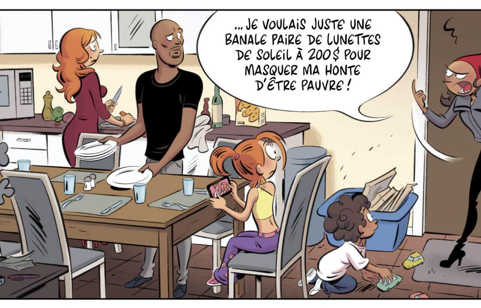 Une case de la bande dessinée «Les Nombrils»