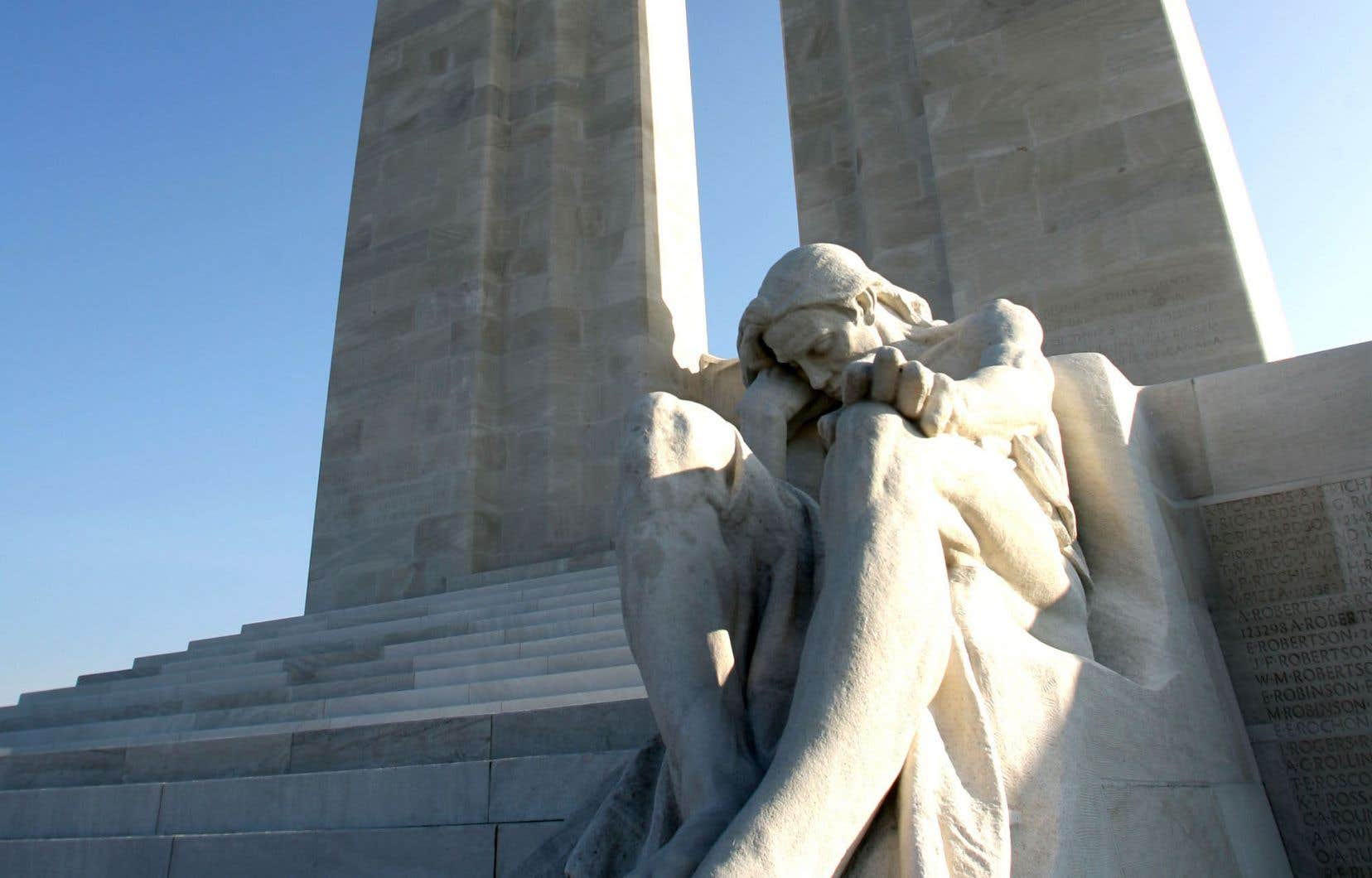 Le Mémorial national du Canada à Vimy honore la mémoire des soldats canadiens morts en France pendant la Première Guerre mondiale.