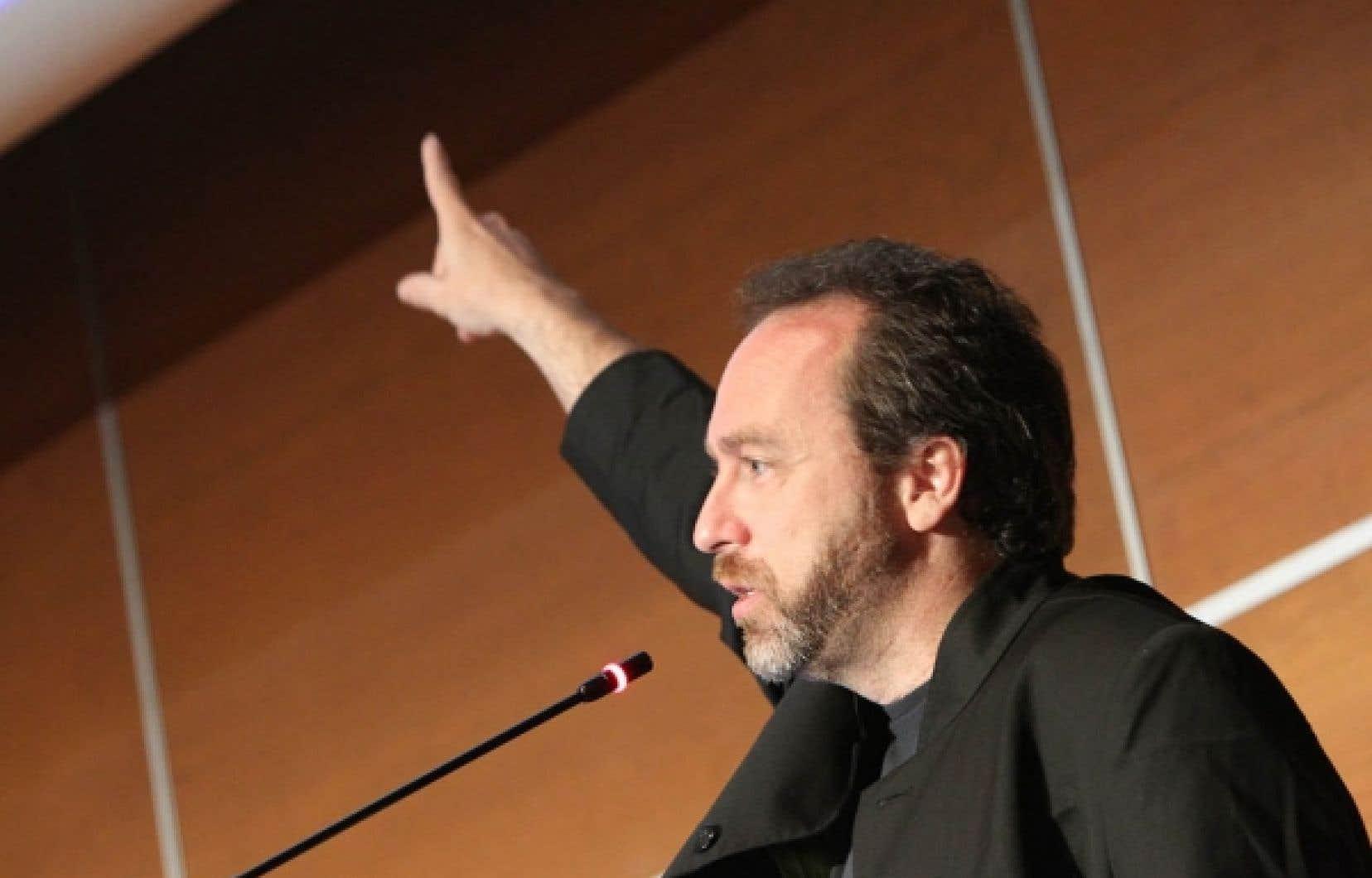 Jimmy Wales, cofondateur de Wikipédia, lors de son passage, cette semaine, à Montréal