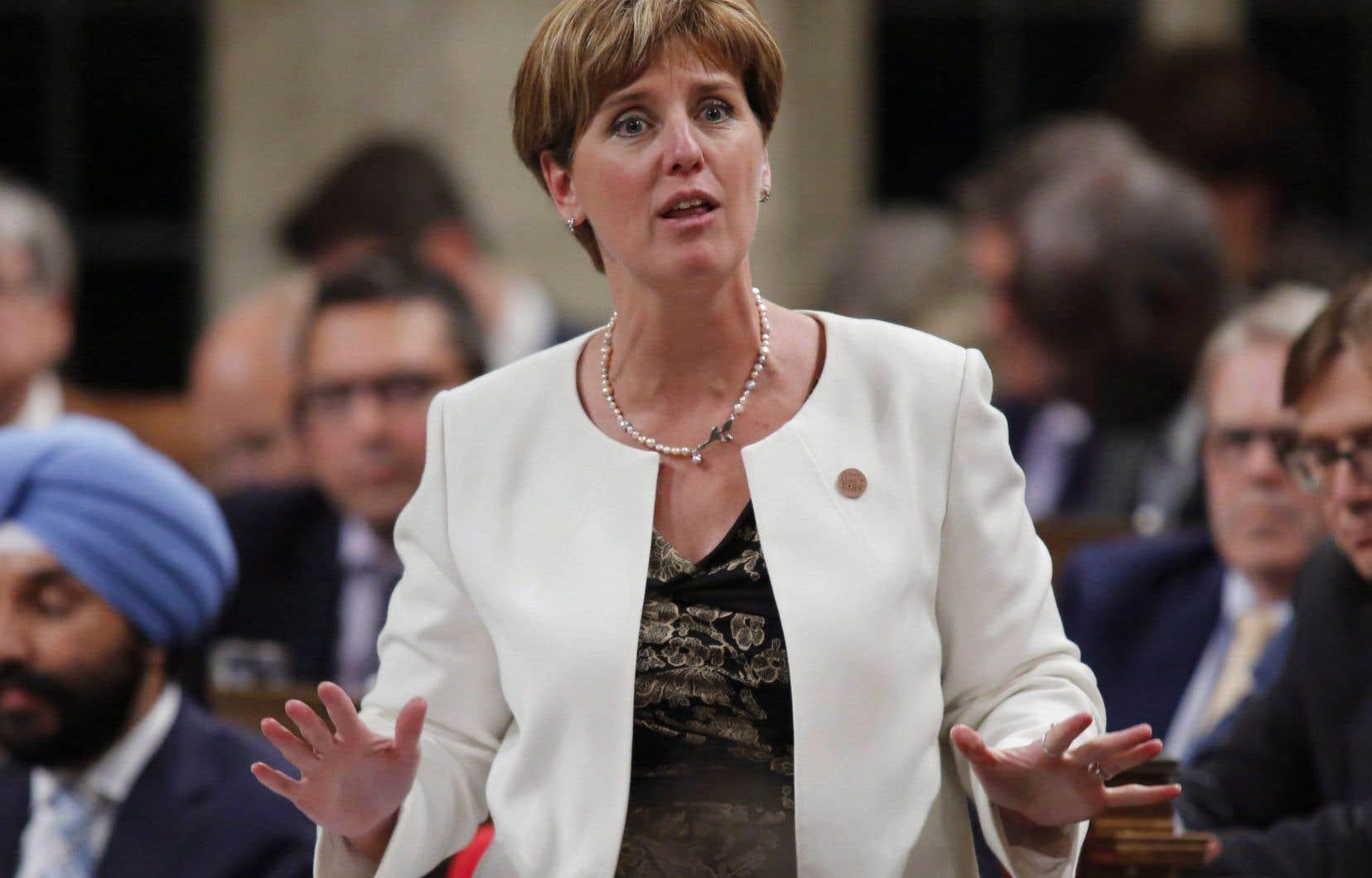 La ministre fédérale du Développement international, Marie-Claude Bibeau