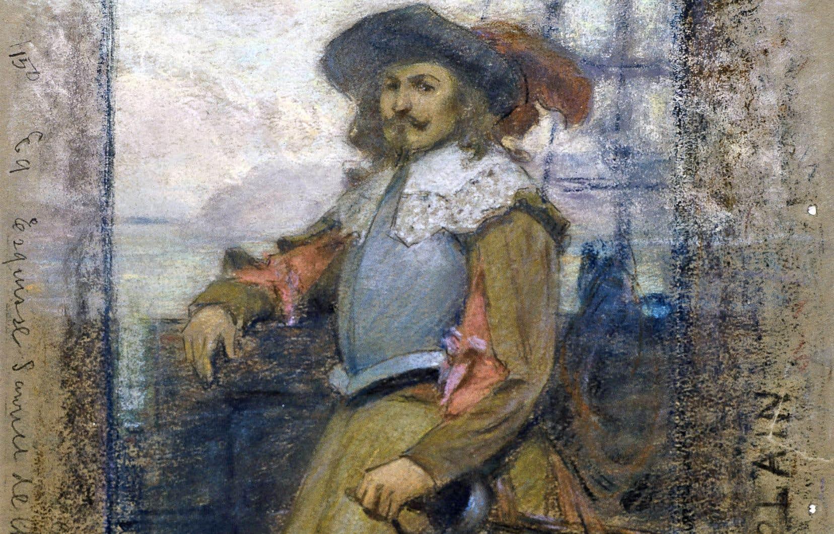 «Étude pour l'arrivée de Samuel de Champlain à Québec», de Marc-Aurèle de Foy Suzor-Coté, 1908-1909