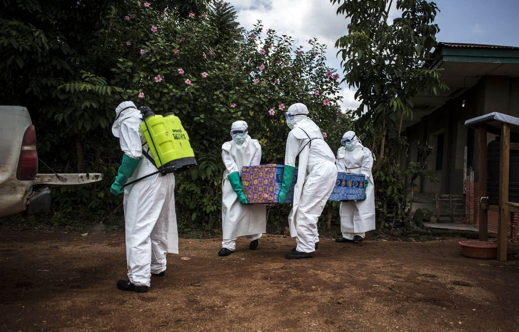 Concrètement, une épidémie d'Ebola est plus facile à contenir qu'une épidémie de grippe, parce que le virus se transmet très difficilement.