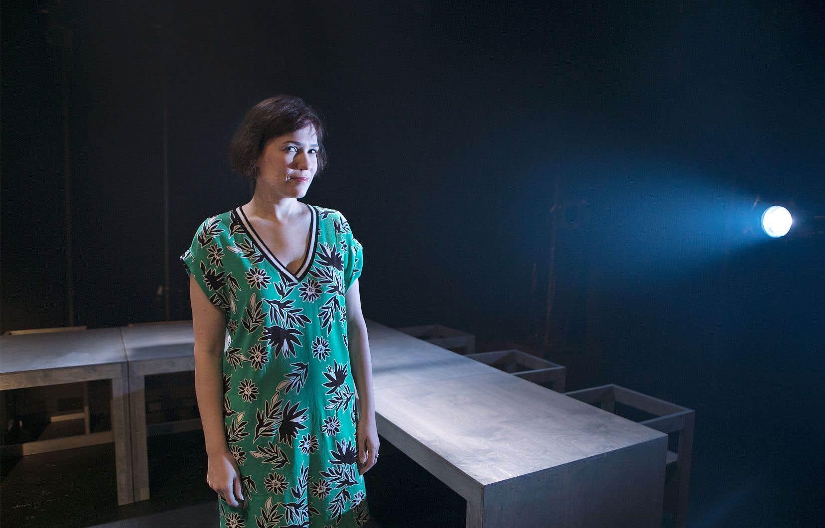 L'auteure et comédienne Rose-Maïté Erkoreka