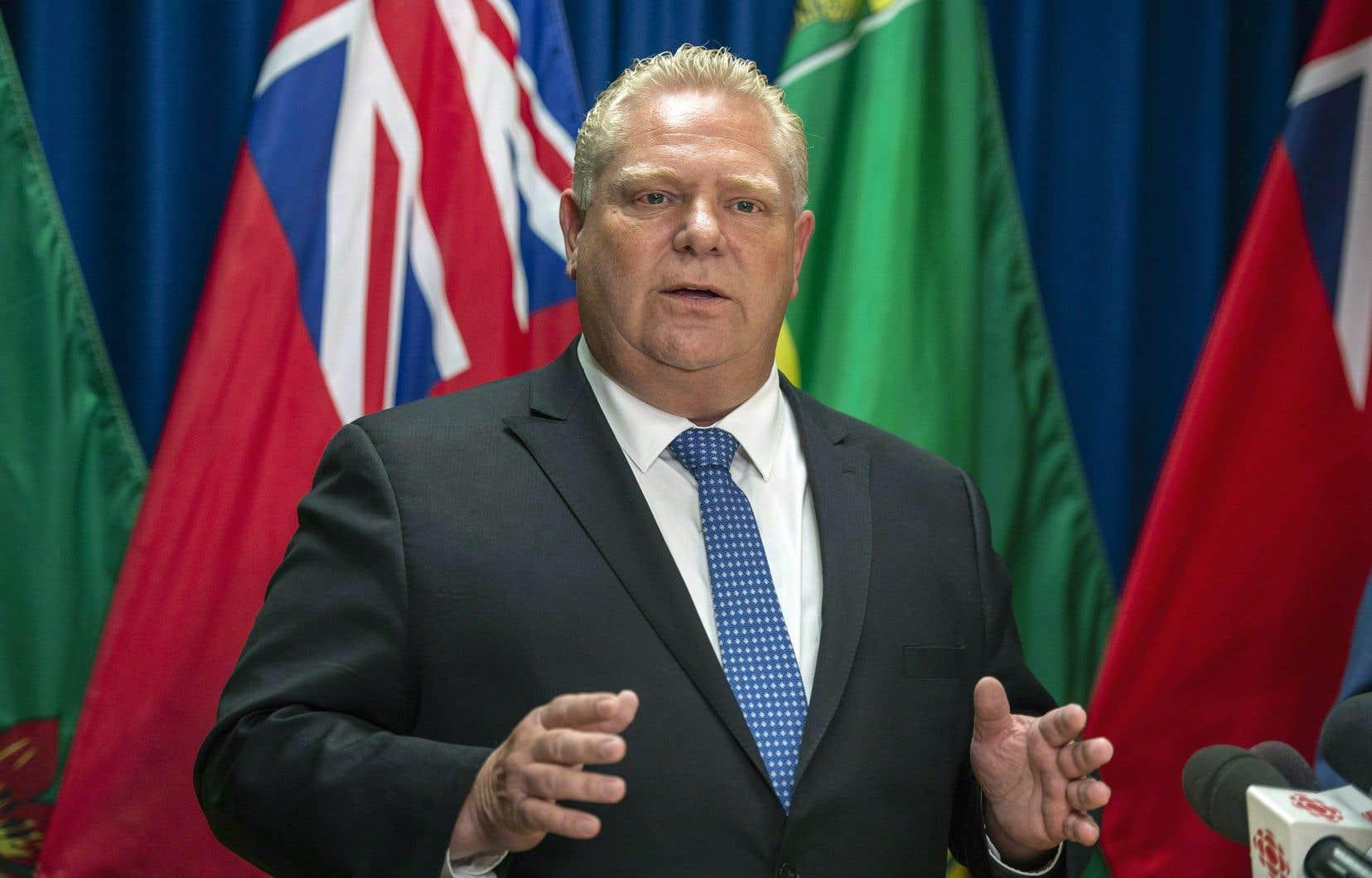 Le premier ministre ontarien, Doug Ford