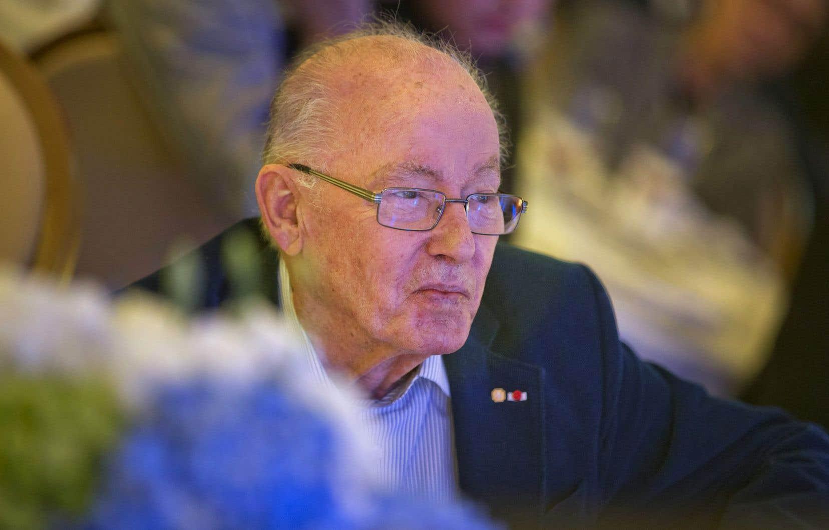 L'ex-premier ministre Bernard Landry, lors de son 80e anniversaire
