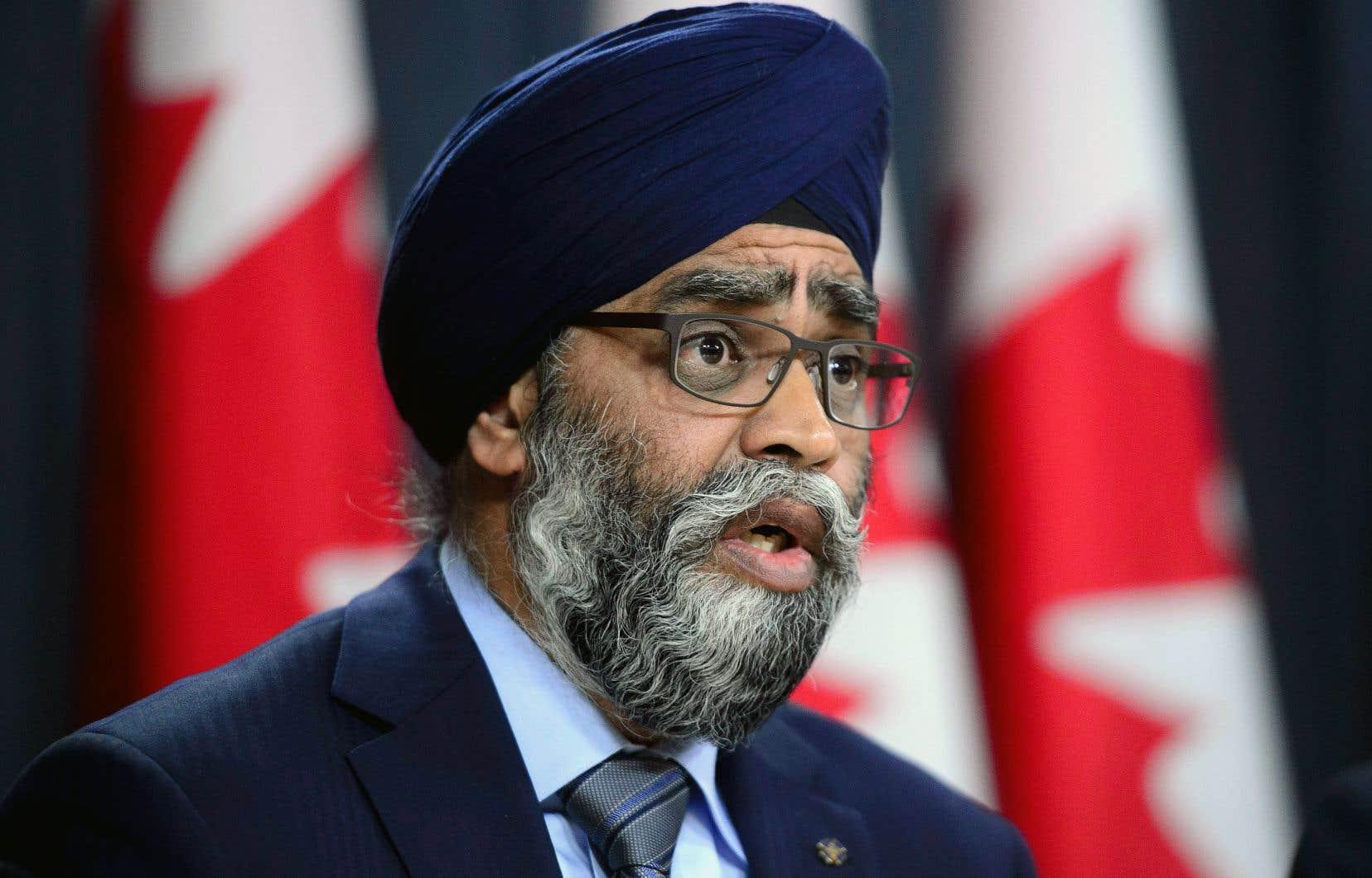 Le ministre canadien de la Défense, Harjit Sajjan, assure qu'il prend la situation au sérieux.
