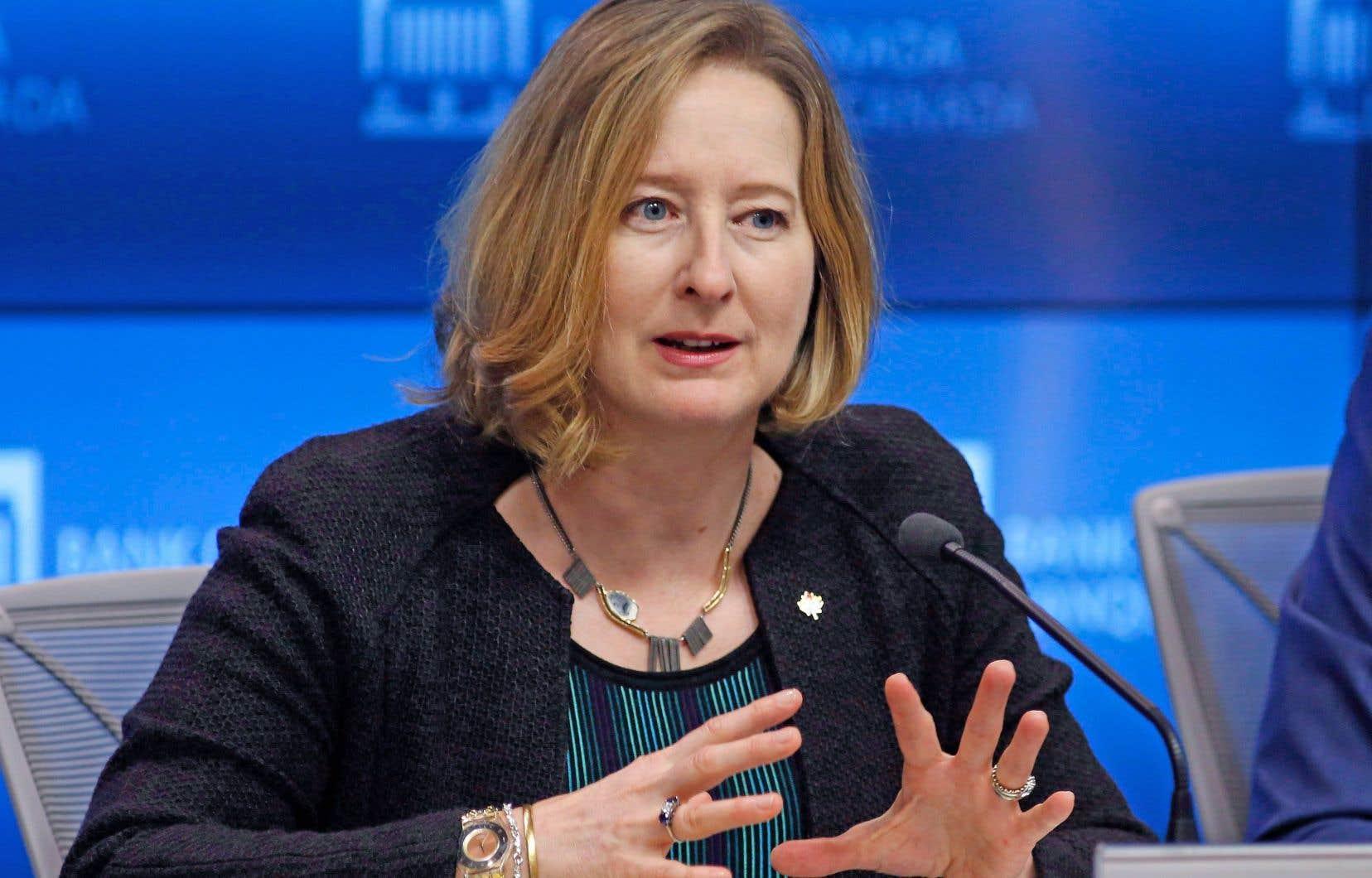 La première sous-gouverneure de la banque centrale, Carolyn Wilkins
