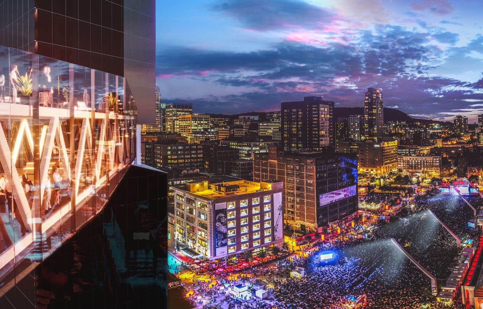 Les deux tours d'une cinquantaine d'étagescomporteront 1500 unités résidentielles, dont le tiers seront offertes sur le marché locatif.