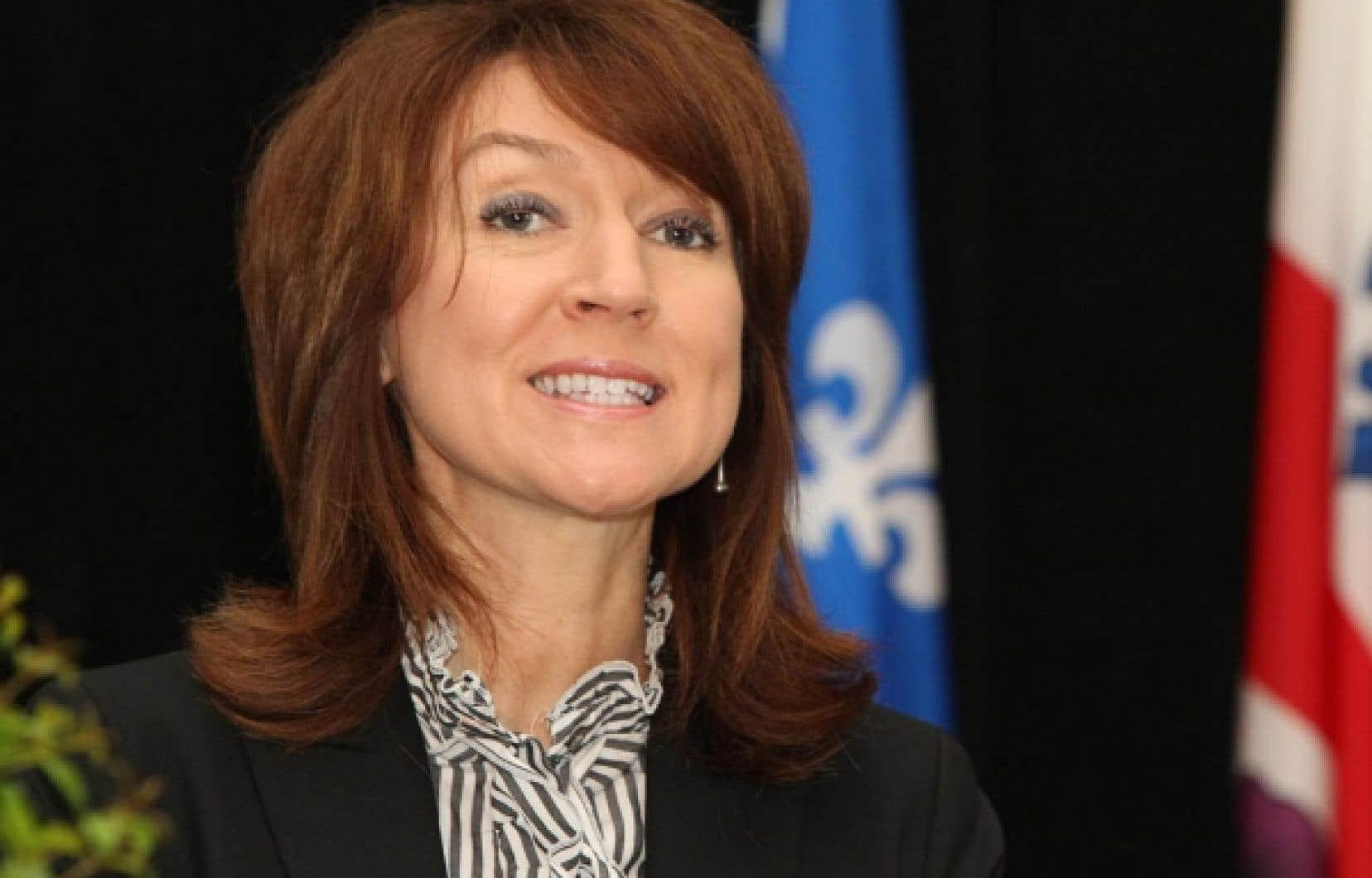 Selon la ministre Nathalie Normandeau, l'extraction des hydrocarbures ne peut se faire «à n'importe quel prix».