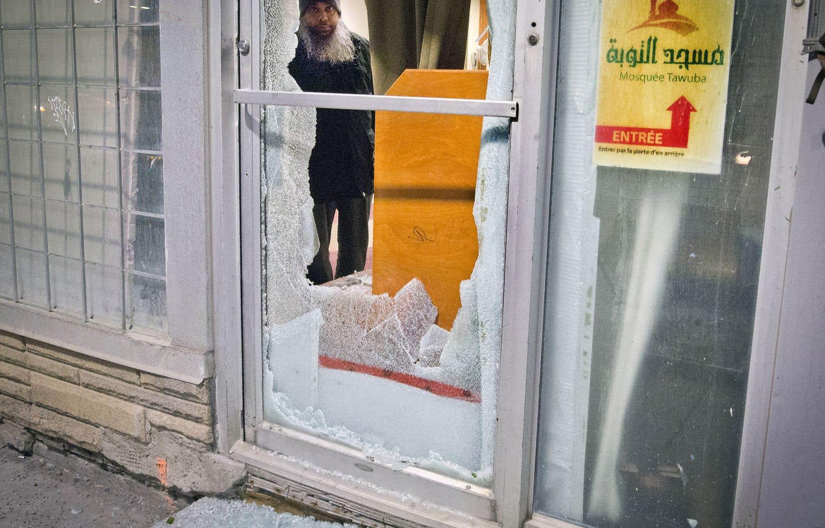 Une mosquée de Montréal avait été victime de vandalisme en février 2017.