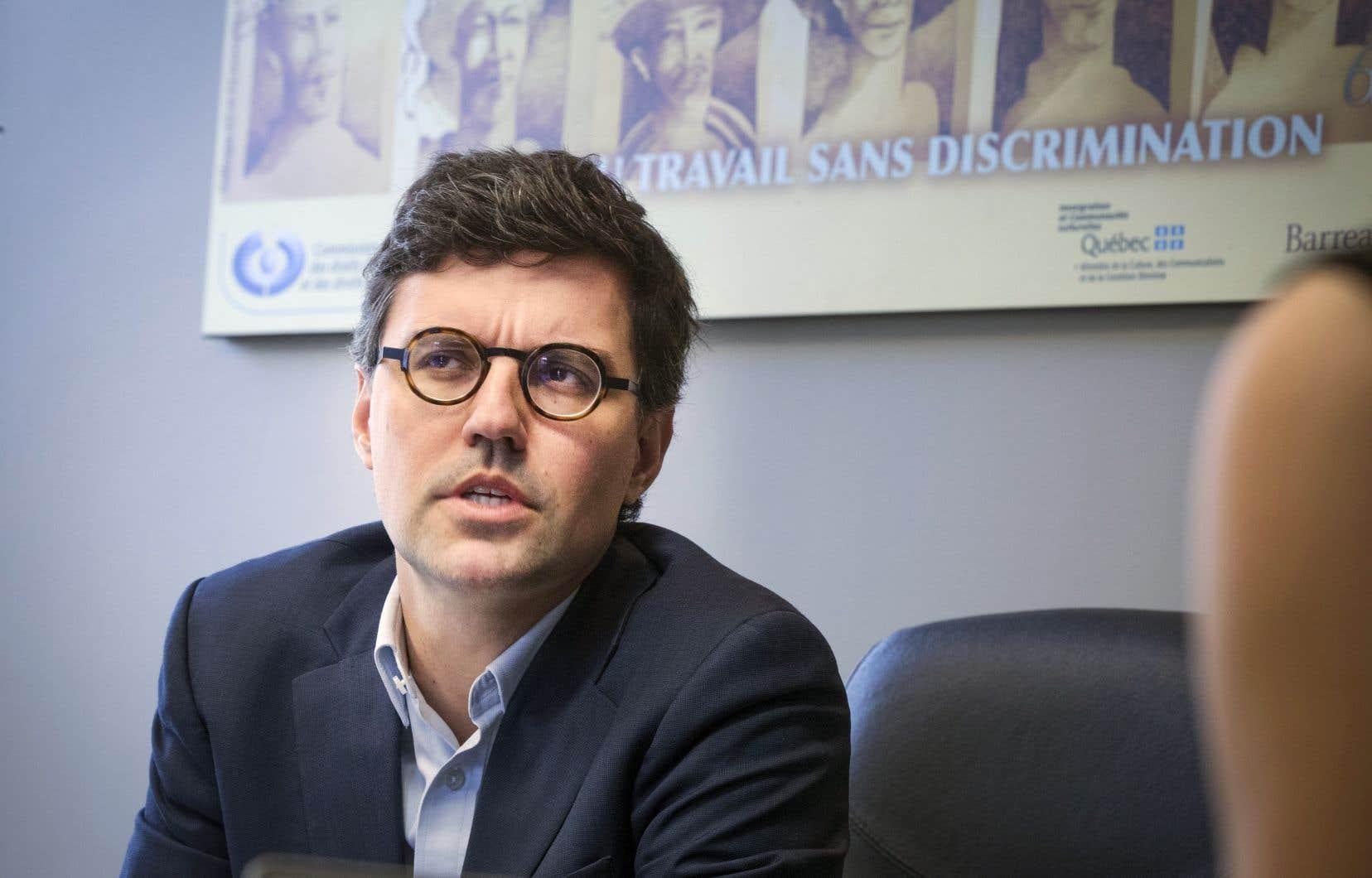 Le président par intérim de la Commission des droits de la personne et des droits de la jeunesse, Philippe-André Tessier