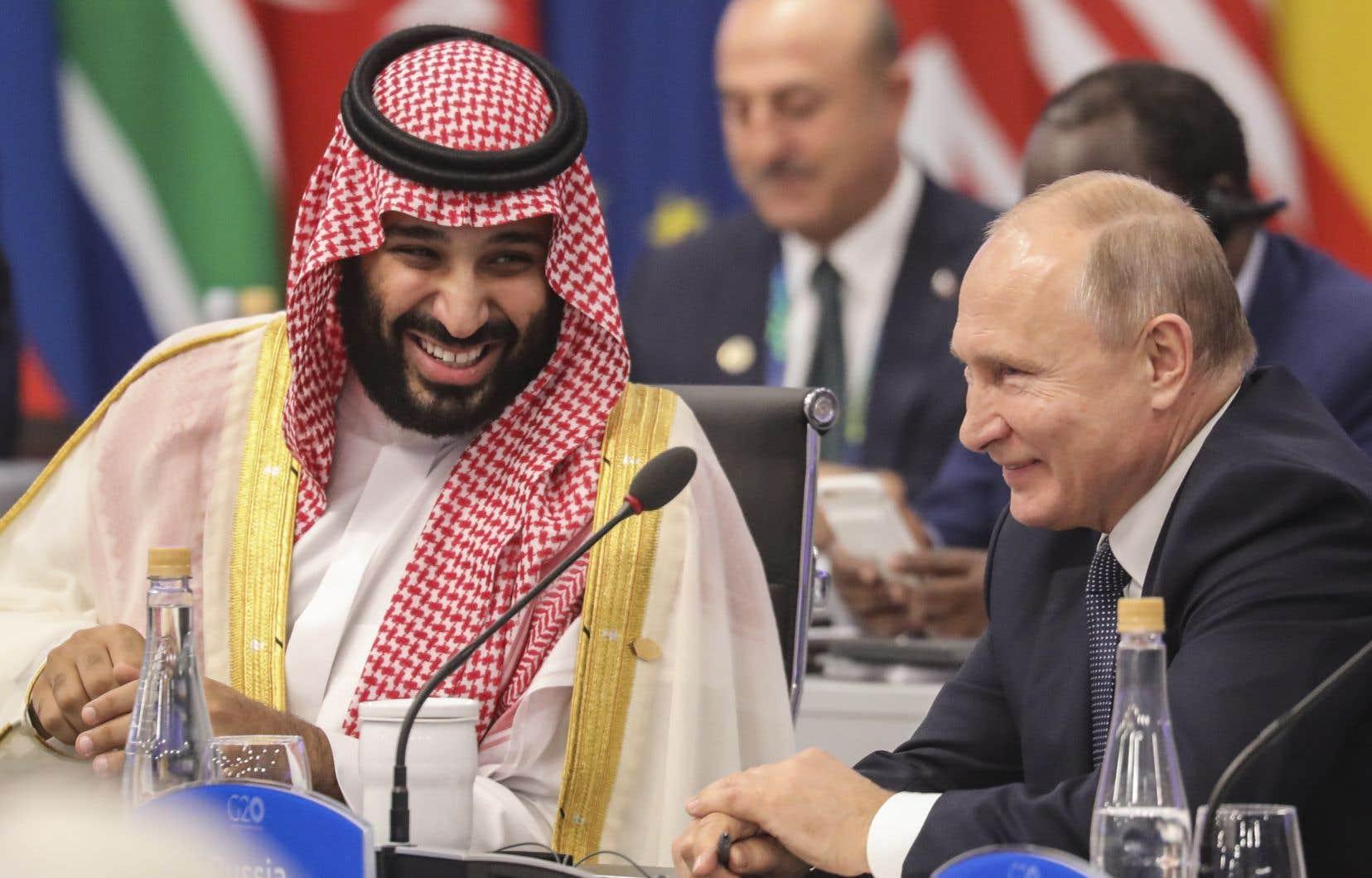 Le prince saoudien, Mohammed ben Salmane, et le président russe, Vladimir Poutine, se sont retrouvés avec un enthousiasme manifeste à Buenos Aires.