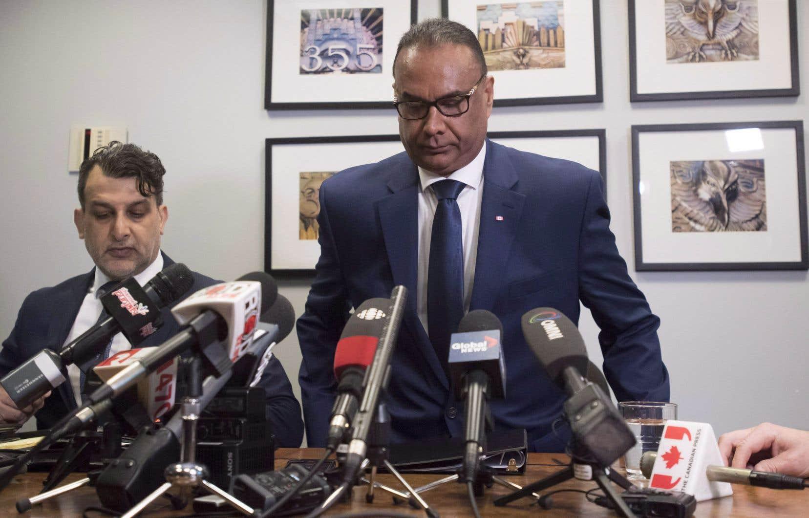 Jaspal Atwal, en conférence de presse à Vancouver au mois de mars dernier
