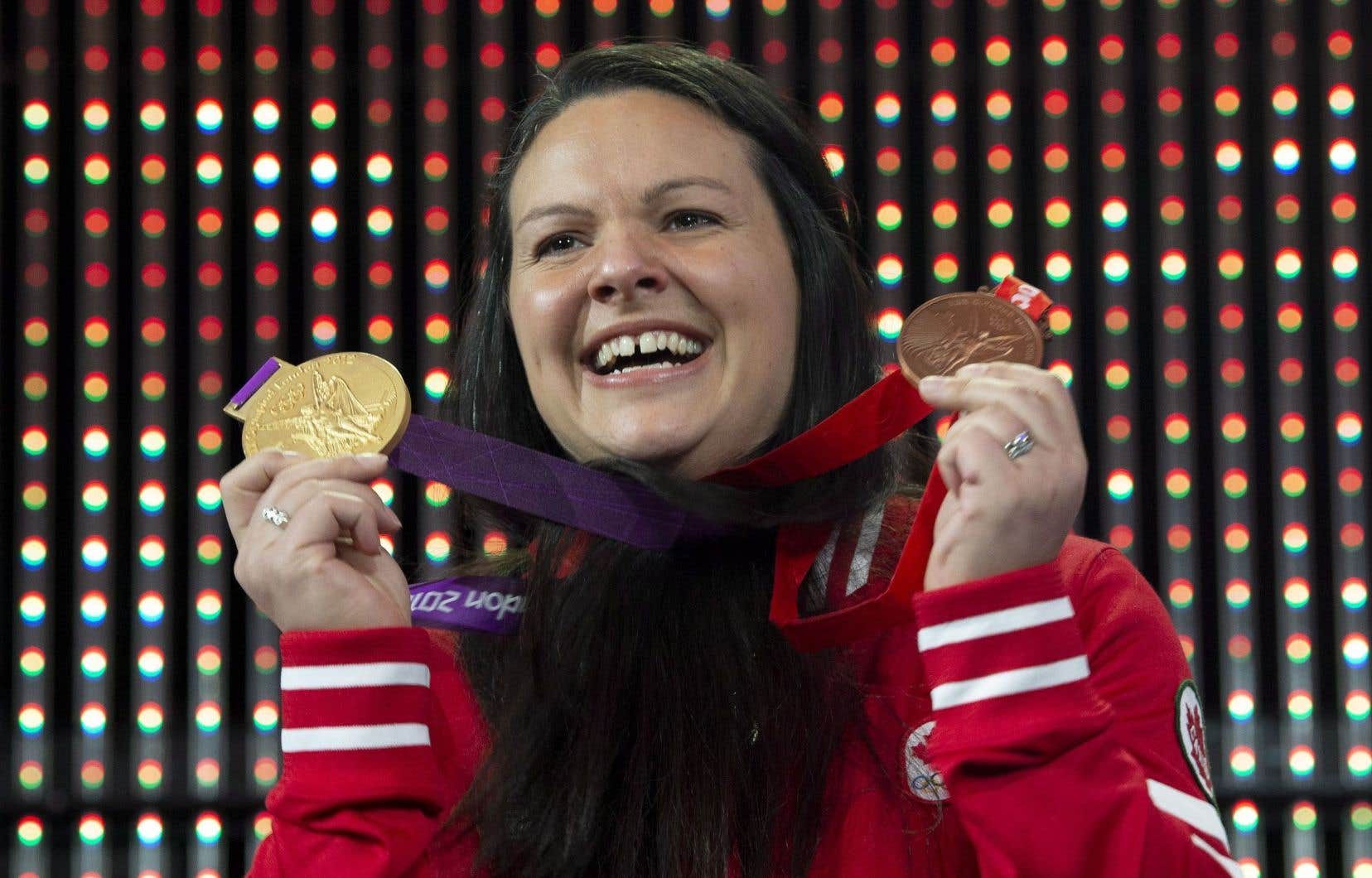 Christine Girard, lors de la cérémonie de lundi à Ottawa