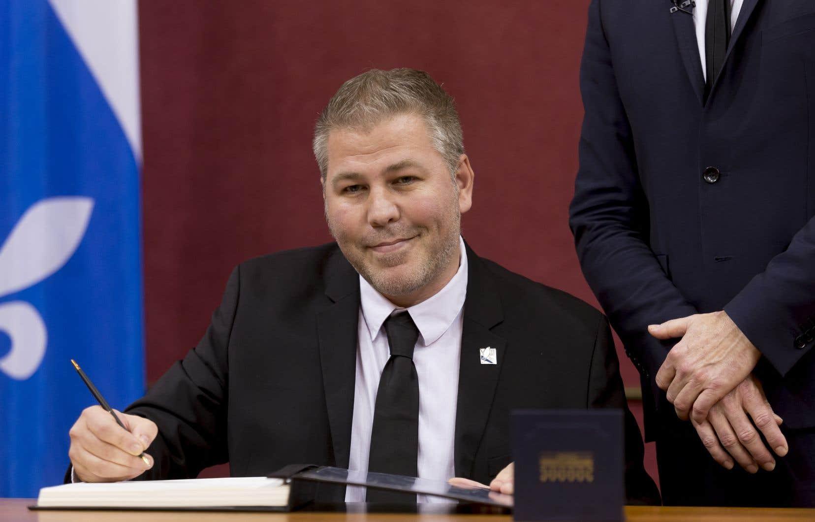 Le chef par intérim du Parti québécois, Pascal Bérubé