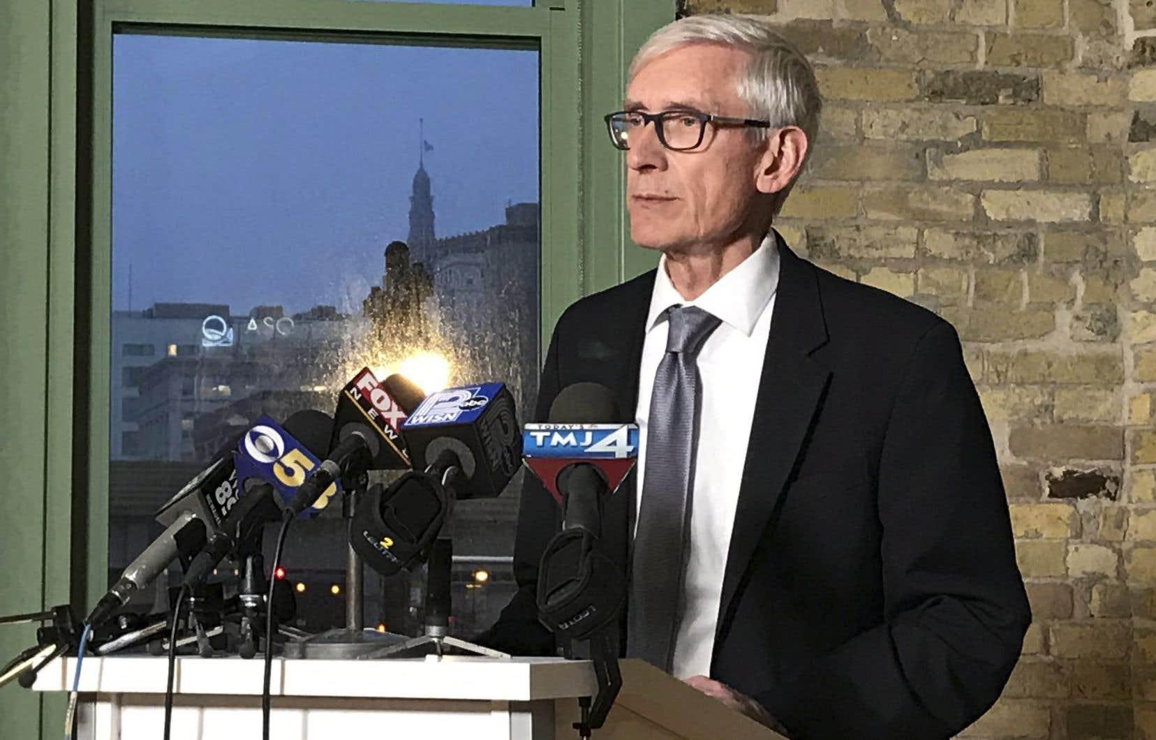Le gouverneur élu de l'État du Wisconsin,le démocrate Tony Evers