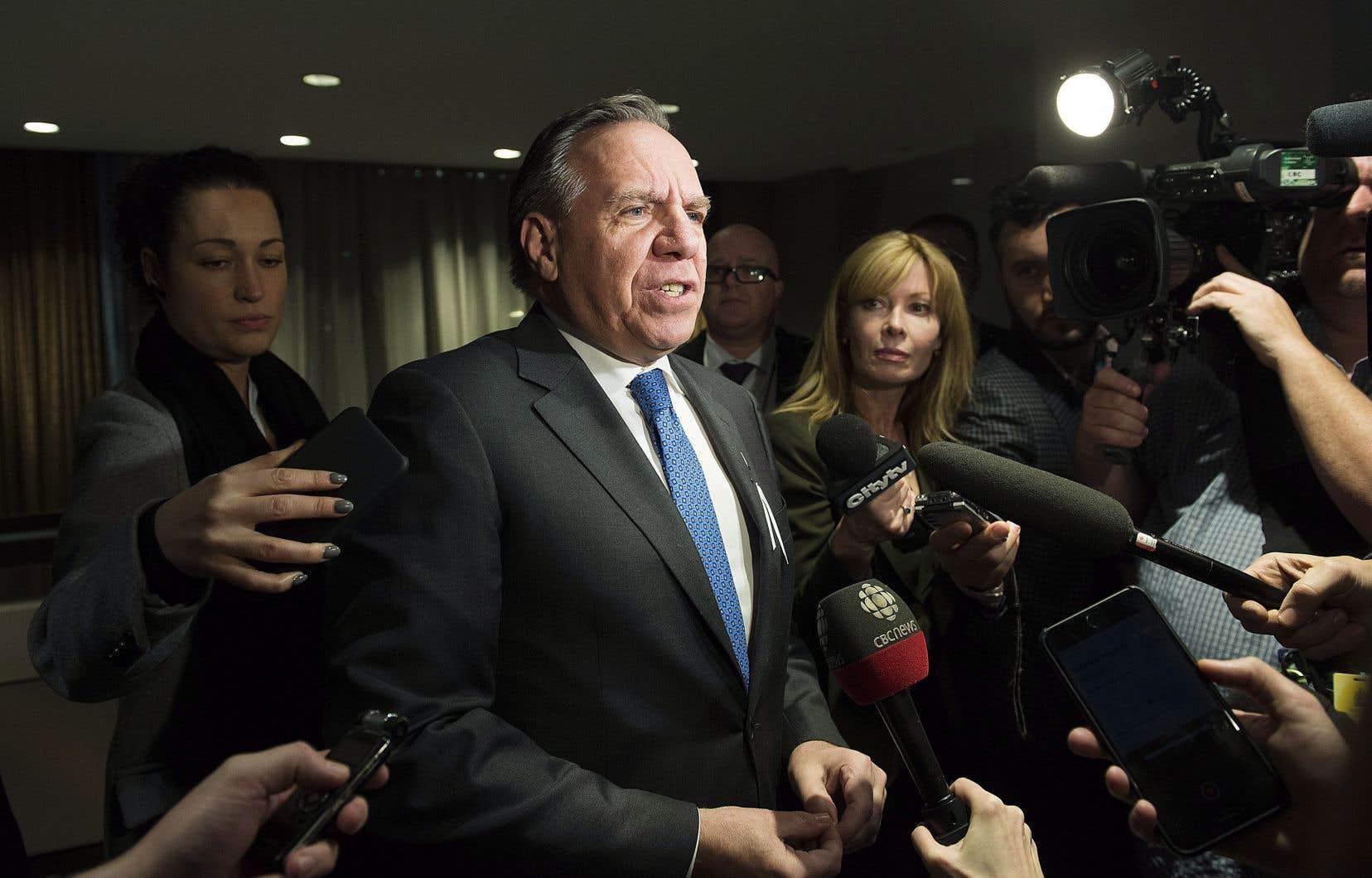 François Legault à son arrivée à la rencontre du Conseil de la fédération. Ce vendredi, les premiers ministres des provinces rencontrent leur homologue fédéral, Justin Trudeau.