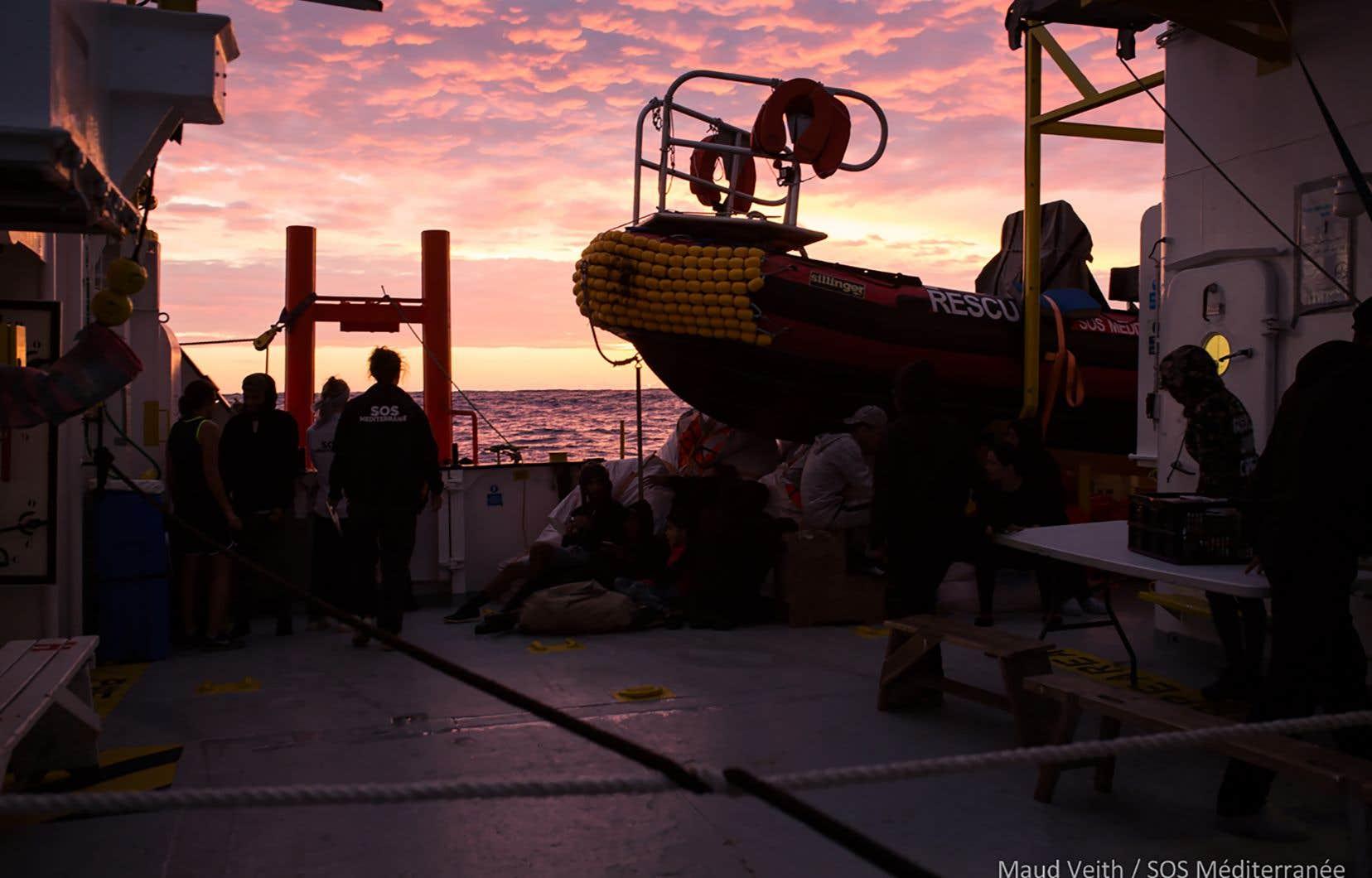Le navire humanitaire «Aquarius» estdevenu le symbole de la crise politique autour de l'accueil des migrants.