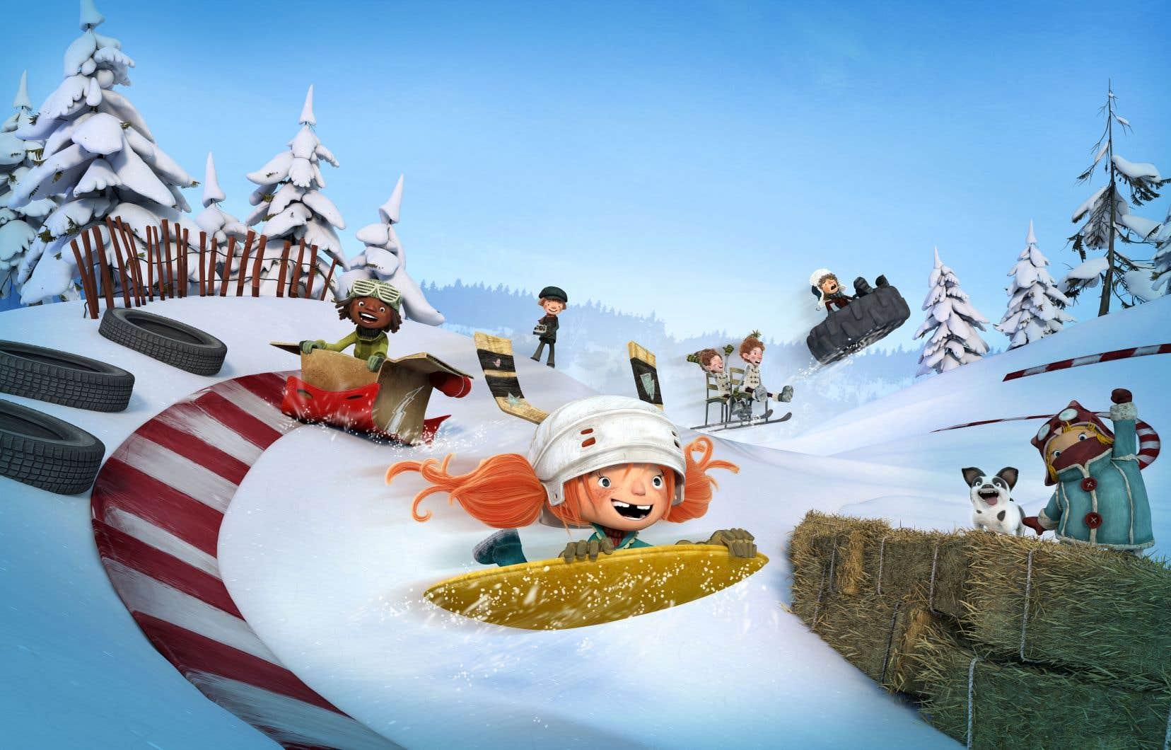 Dans «La course des tuques», on retrouve la ribambelle de gamins espiègles qui a fait le succès de «La guerre des tuques 3D».