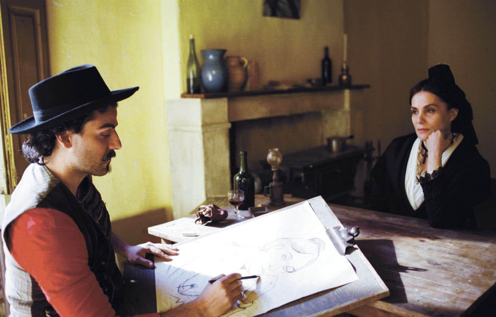 Même lorsqu'elle se fait objective et qu'elle observe Vincent dans le cadre, la caméra demeure comme branchée par un fil invisible à l'esprit troublé du peintre.