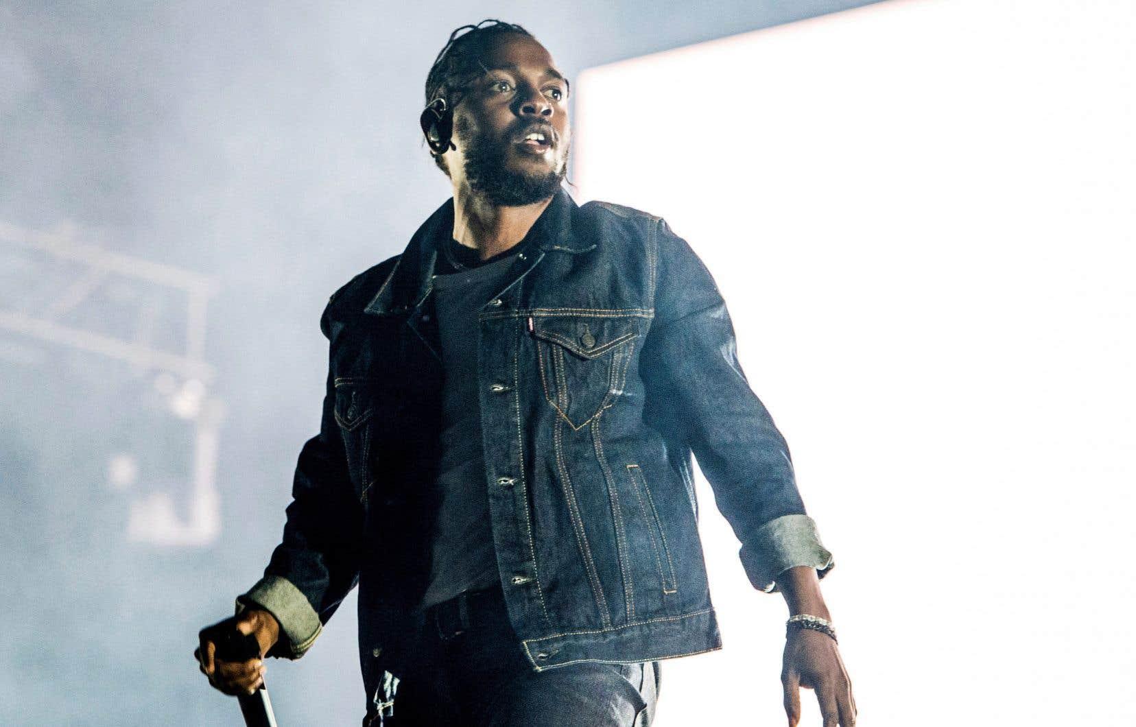 Kendrick Lamar lors de son passage au Festival d'été de Québec, en 2017