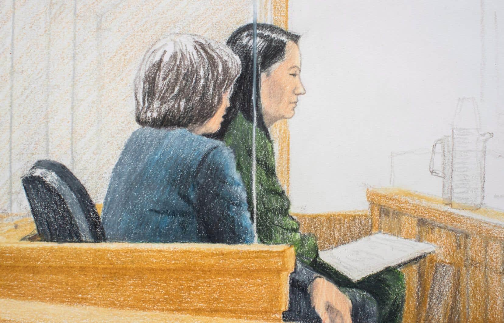 Meng Wanzhou a comparu vendredi devant un juge de Vancouver lors d'une audience de remise en liberté.