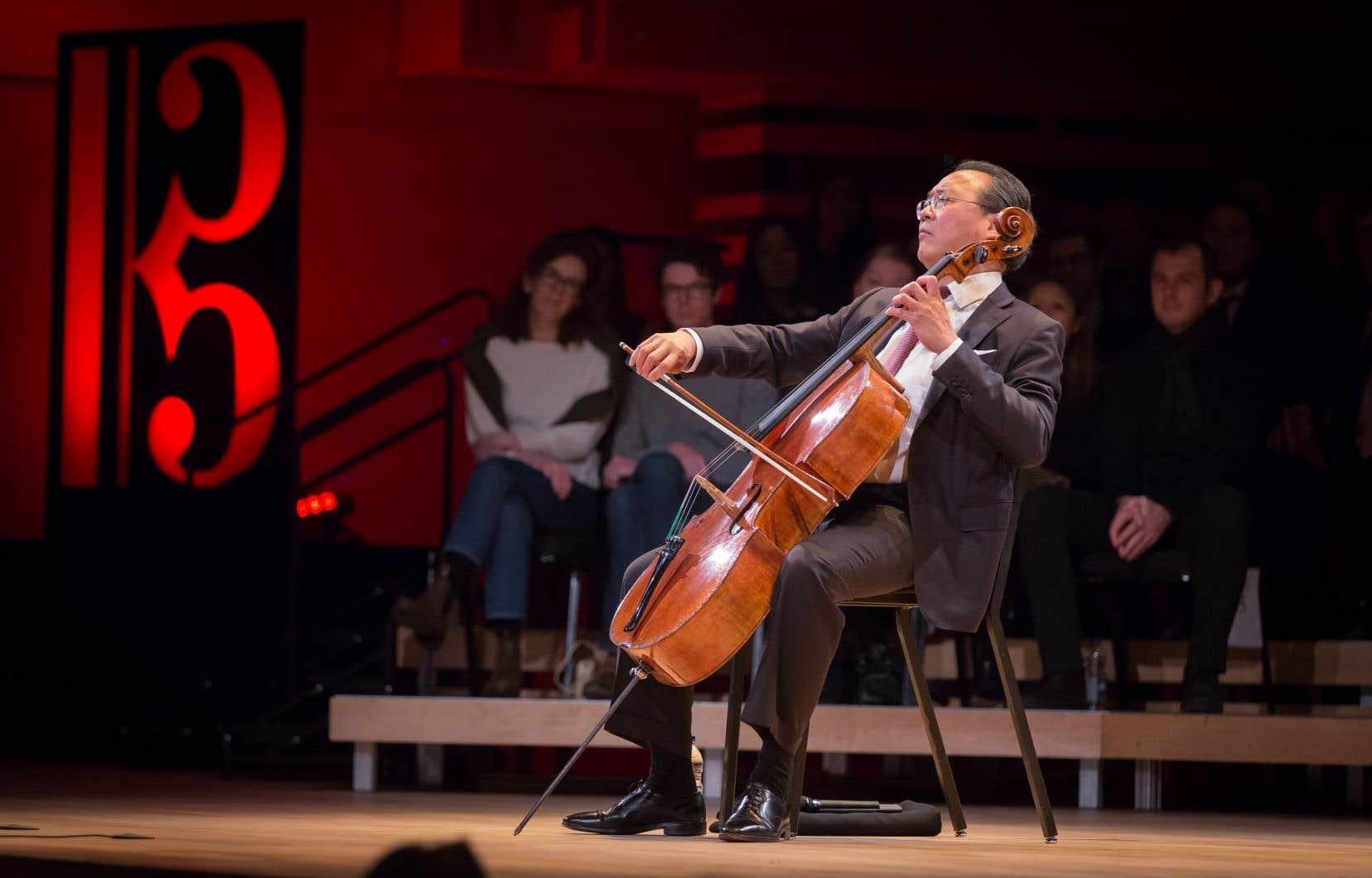 En rappel, Yo-Yo Ma a rendu hommage au découvreur des «Suites», le Catalan Pau Casals.