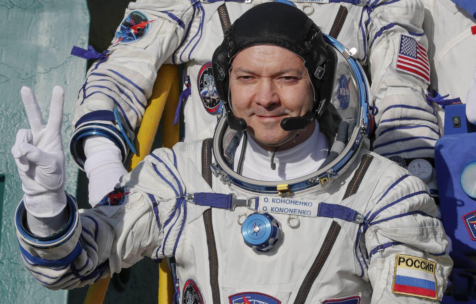 La sortie dans l'espace des cosmonautes Oleg Kononenko (en photo) et Sergueï Prokopyev débutera à 11h.
