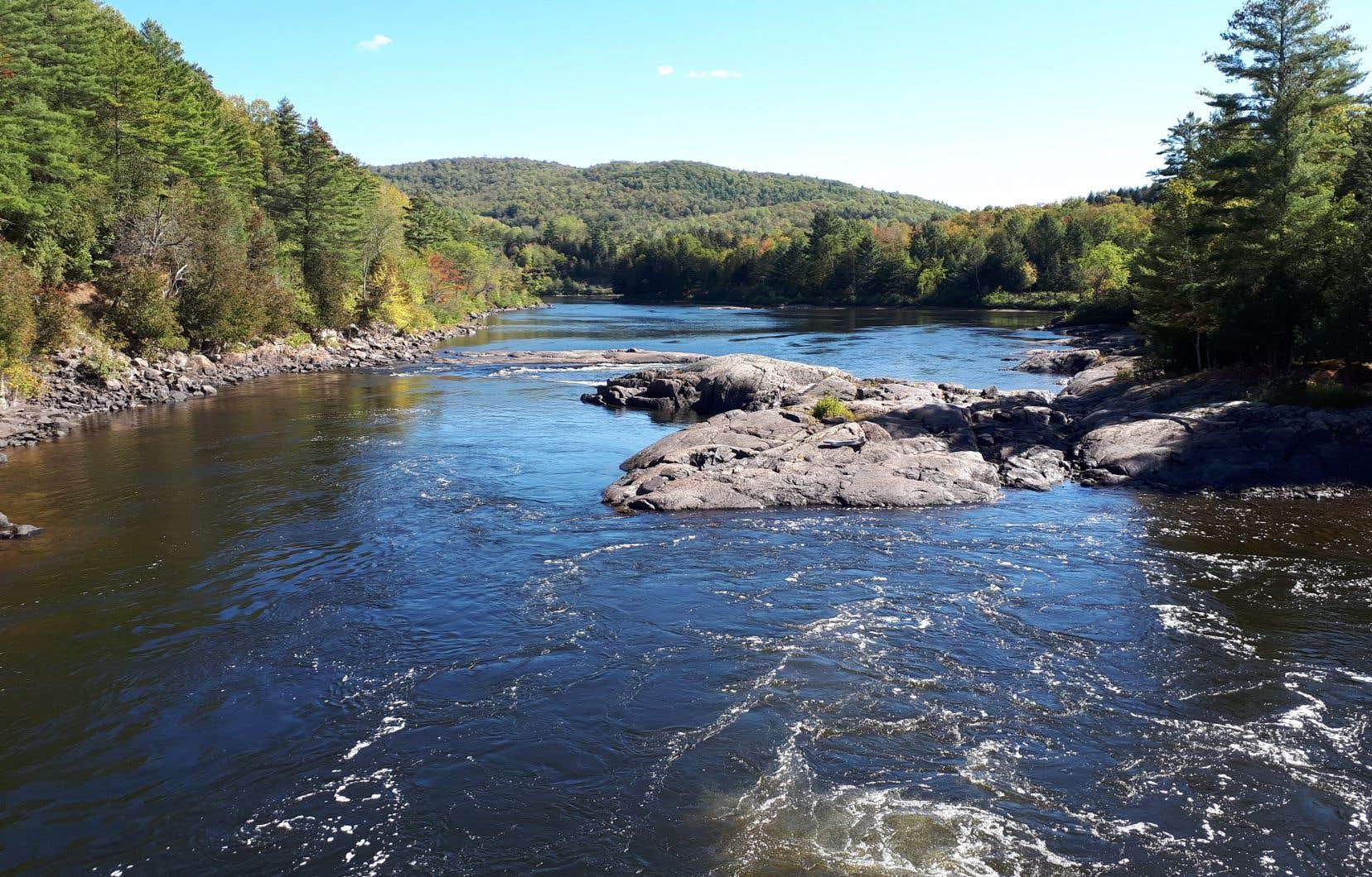 La rivière Rouge, dans la municipalité de Grenville-sur-la-Rouge